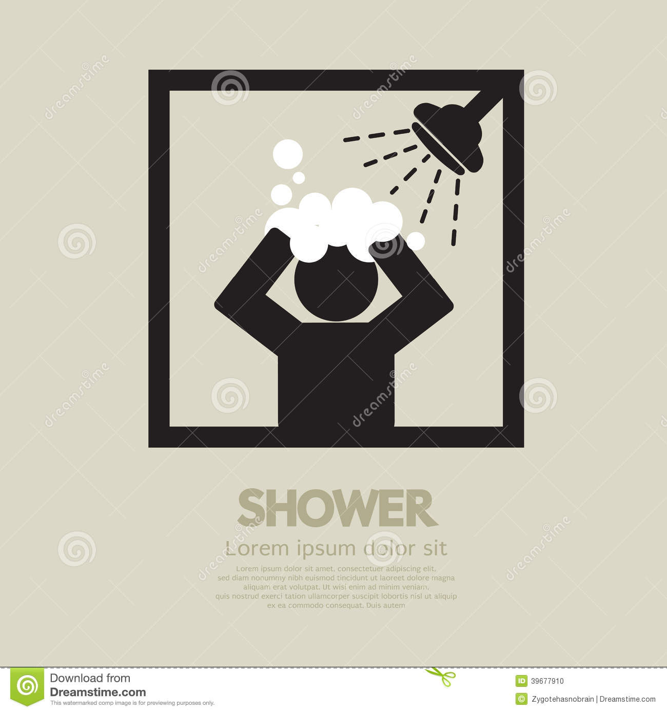 shower stock vector image 39677910 Chevron Pattern Background Chevron Vector Graphic