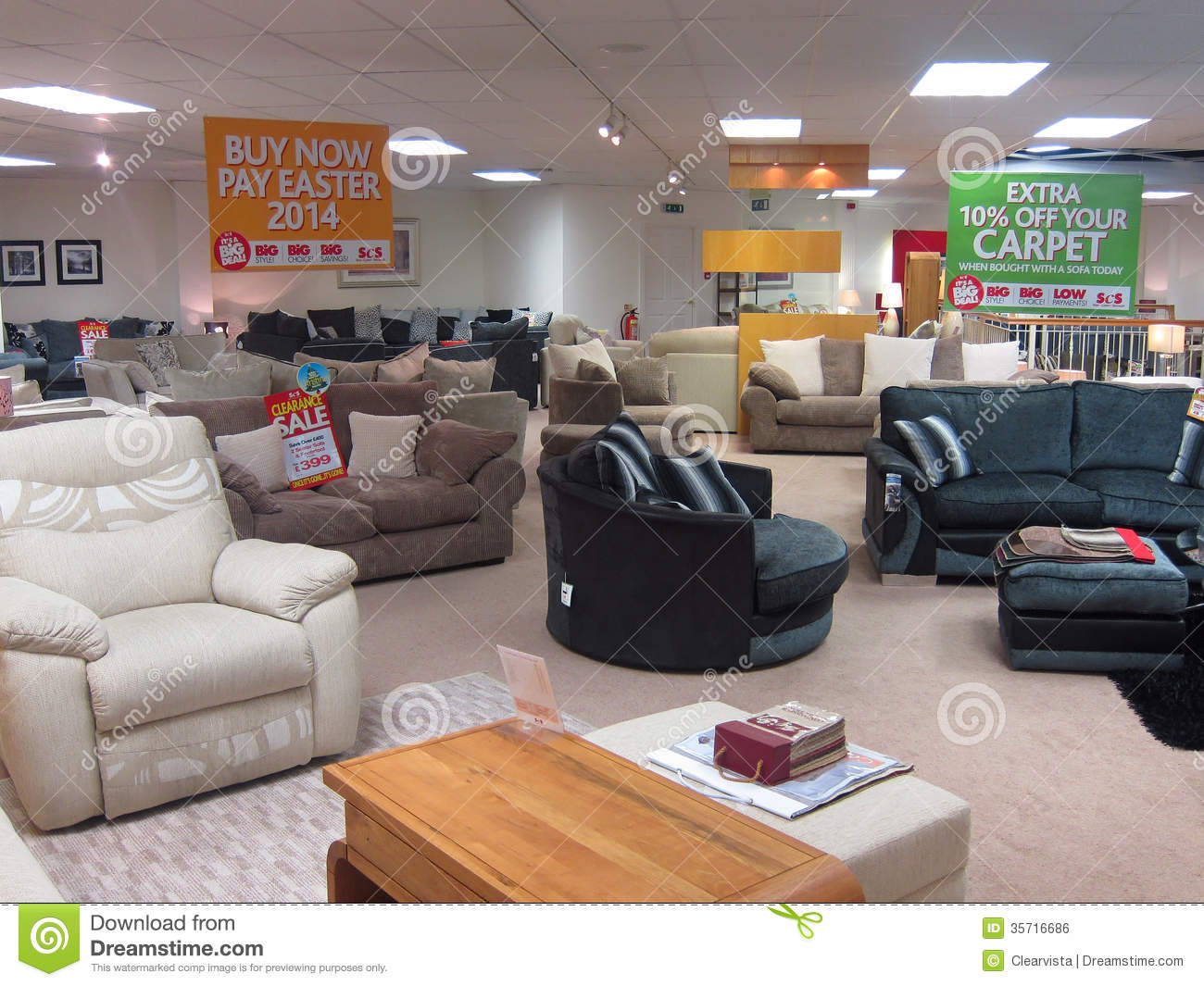 Showroom in a furniture store editorial photo image for Furnisher sale