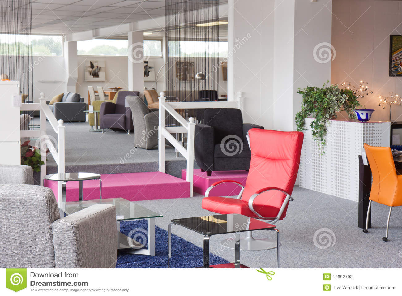 Showroom Of Modern Furniture Stock Photos Image 19692793