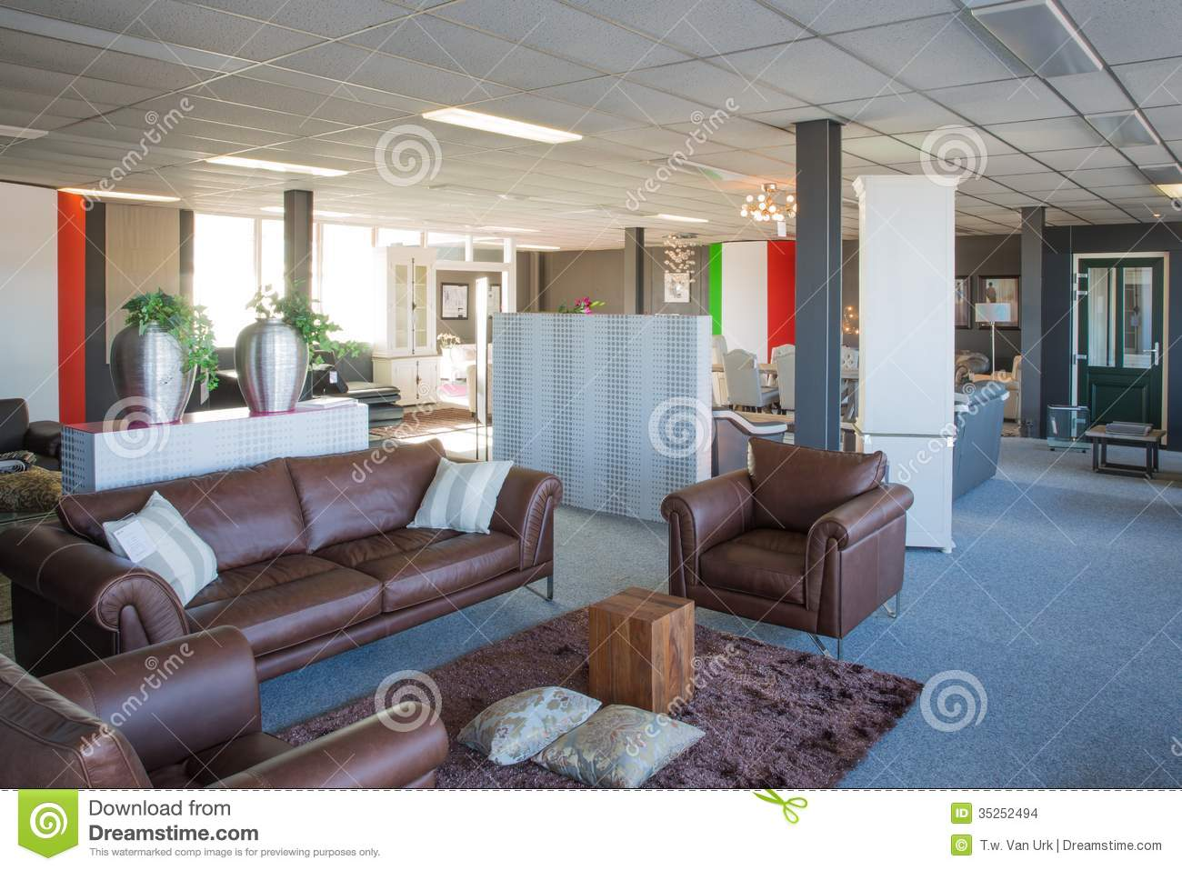 Showroom Of Modern And Luxury Furniture Store Stock Images Image