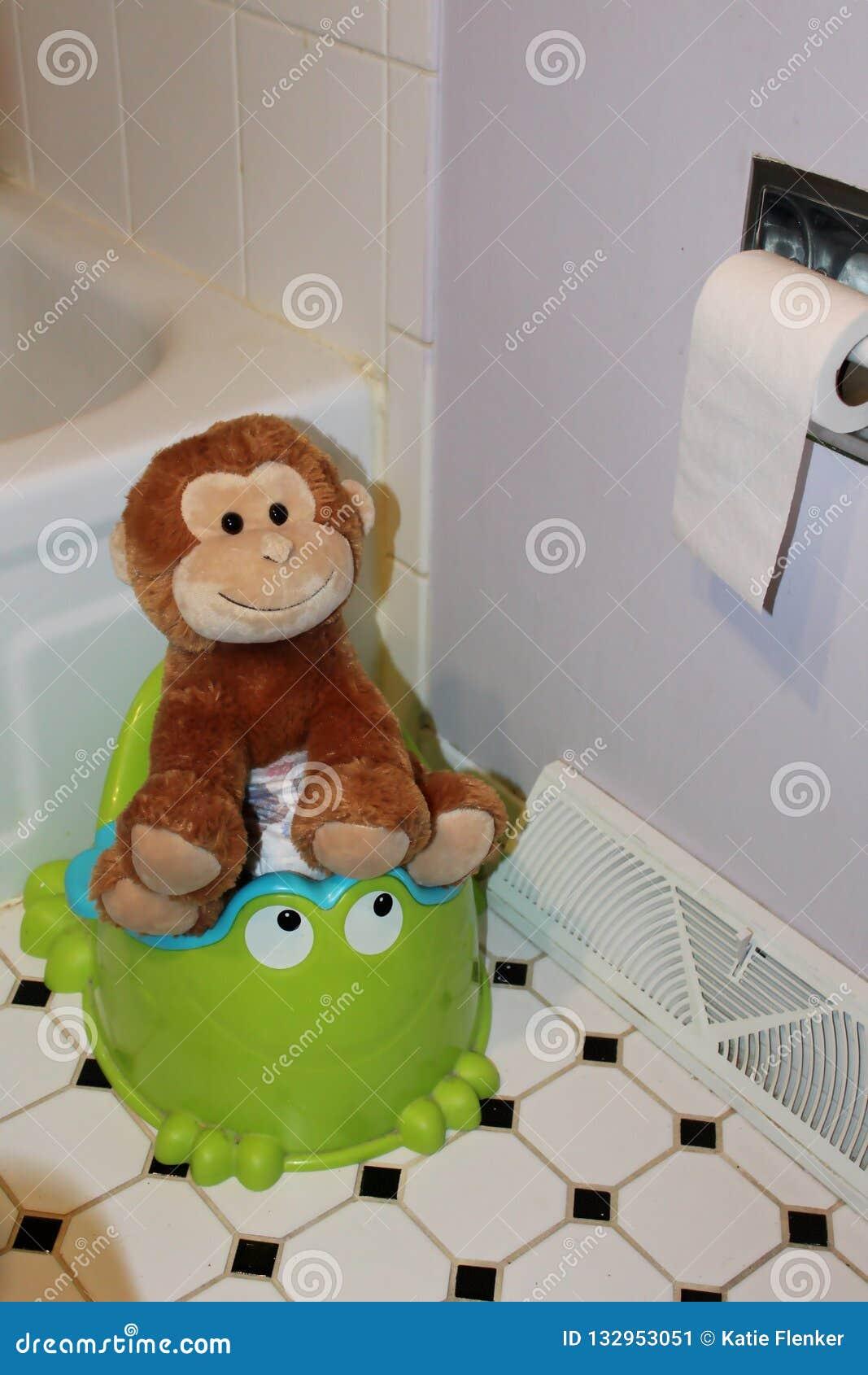 Kids On Toilet Stock Illustration - Download Image Now
