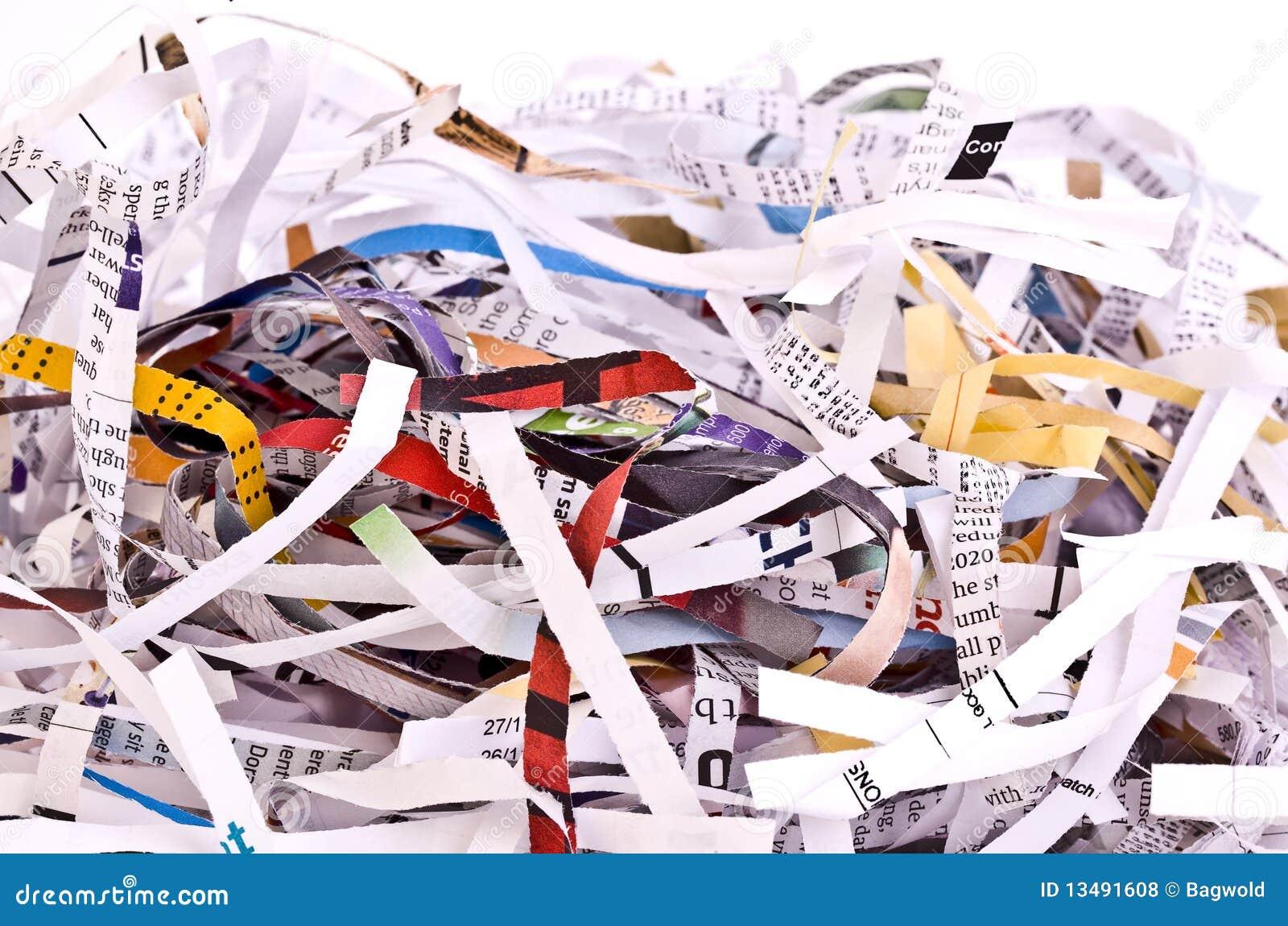 Shredded бумага