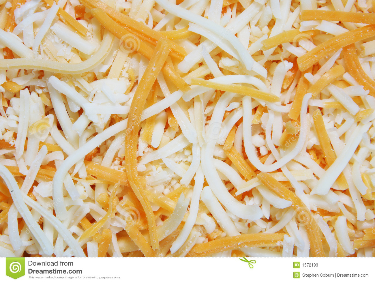 background of shredded cheddar and montery jack cheese.