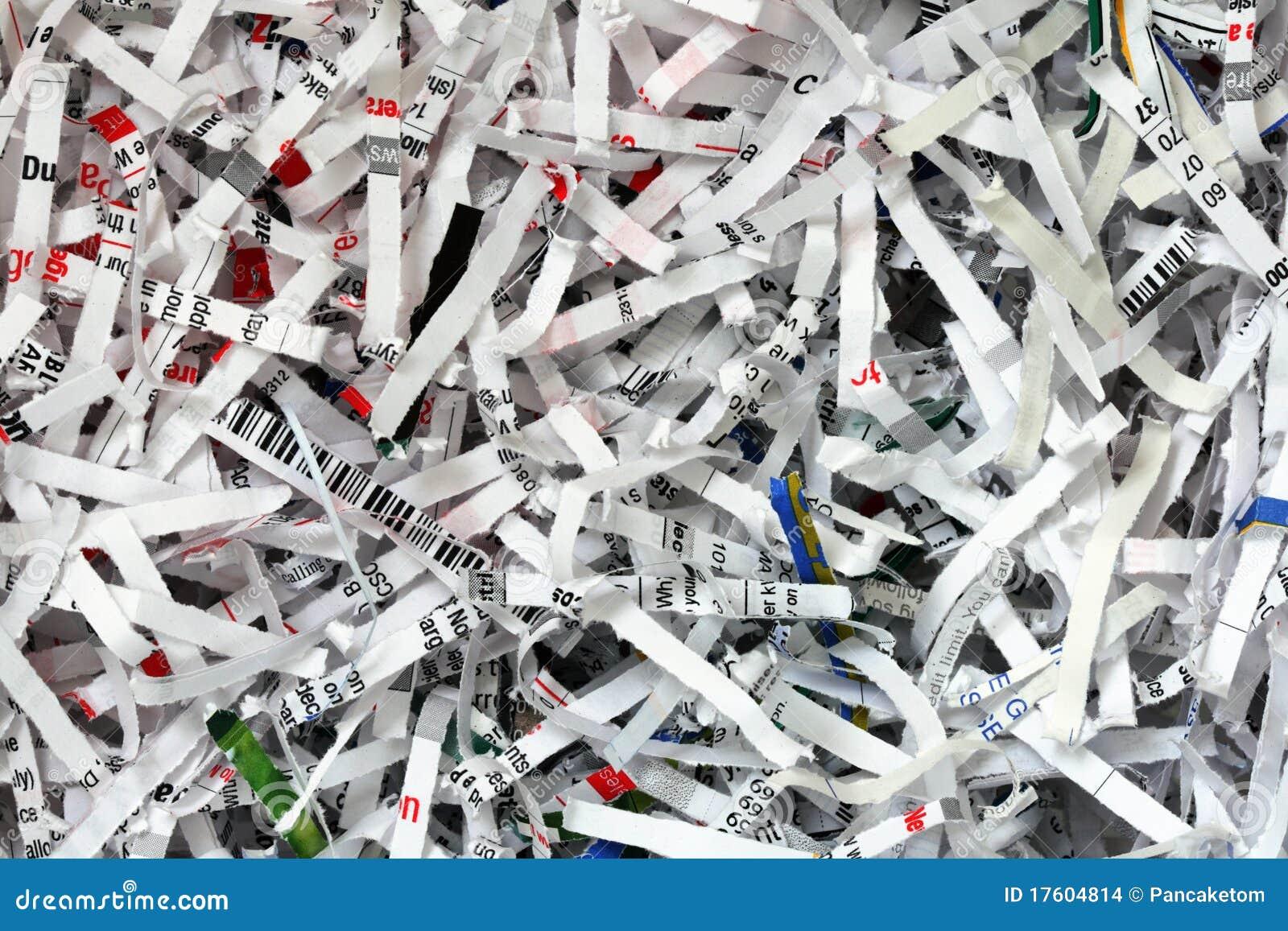 Shredded document background stock images image 17604814