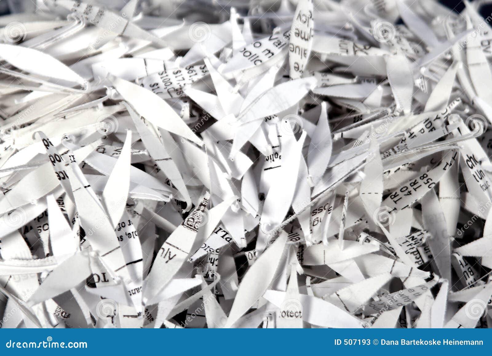 paper shredding terms