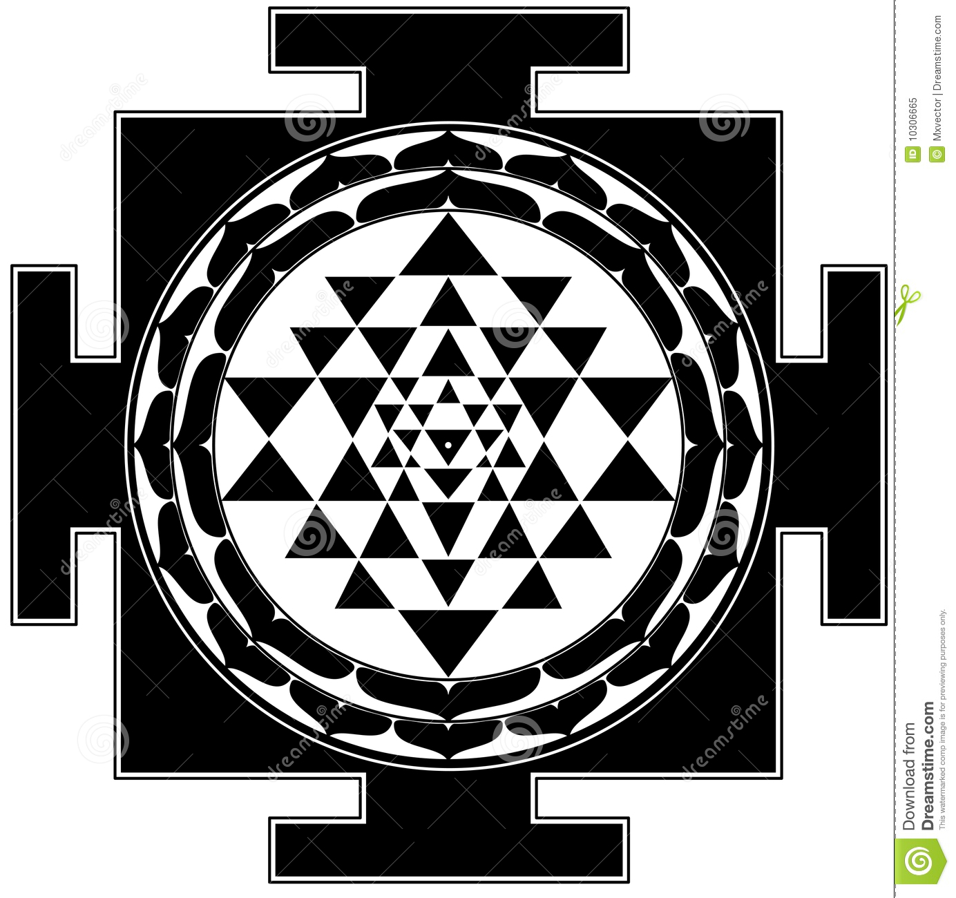 Wallpaper of shri yantra