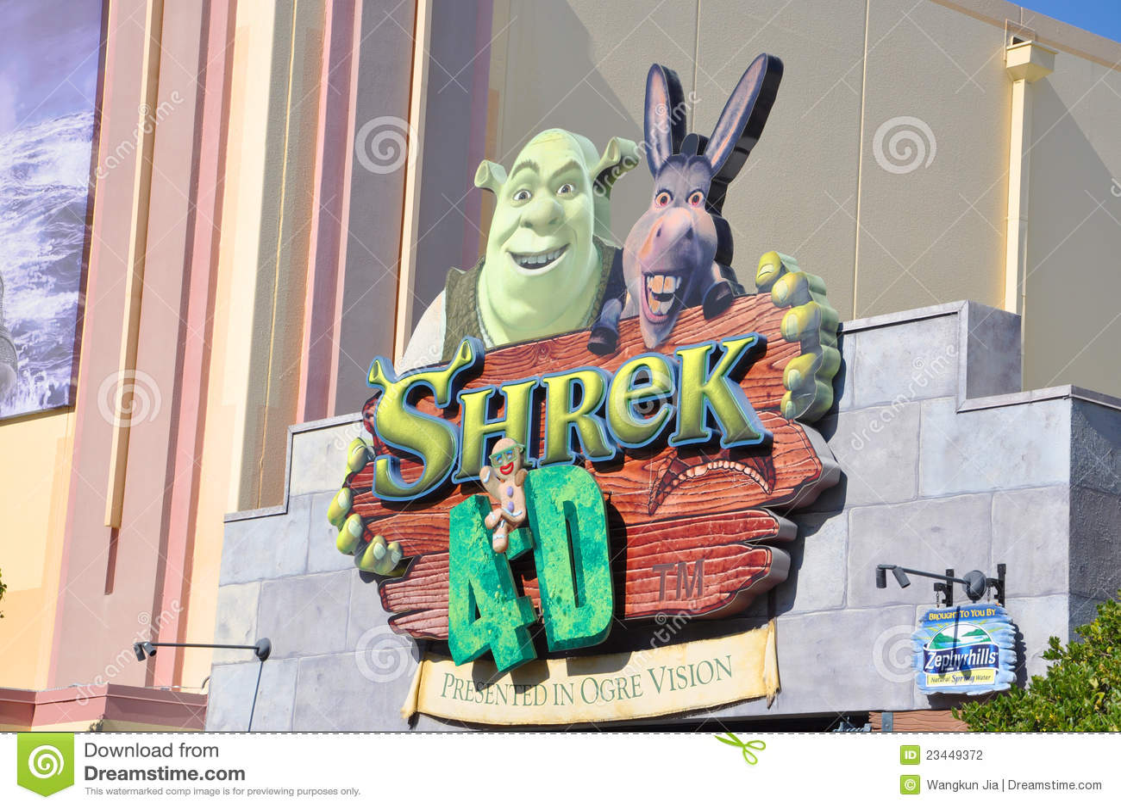 Shrek 4-d film in universal studios florida editorial photography.