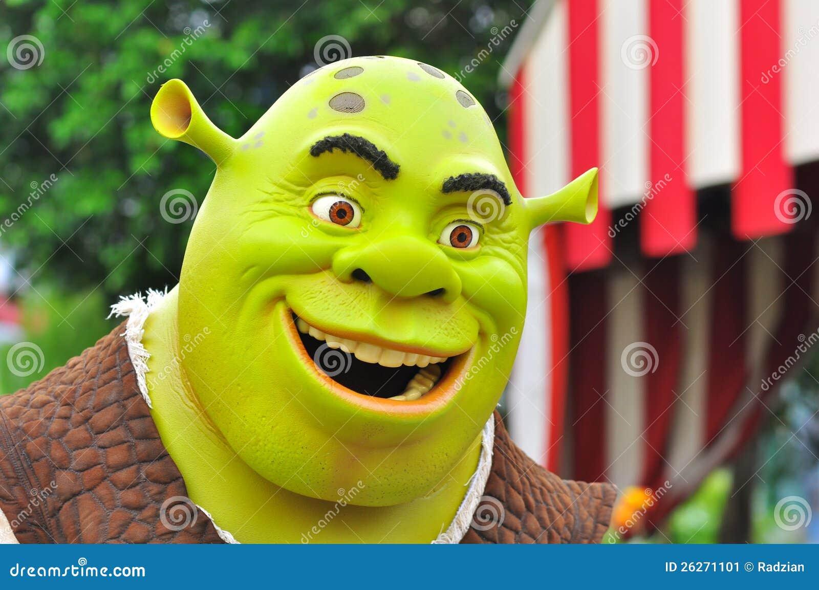 Shrek Cartoon Character Editorial Photo - Image: 26271101 Bruce Willis Tower
