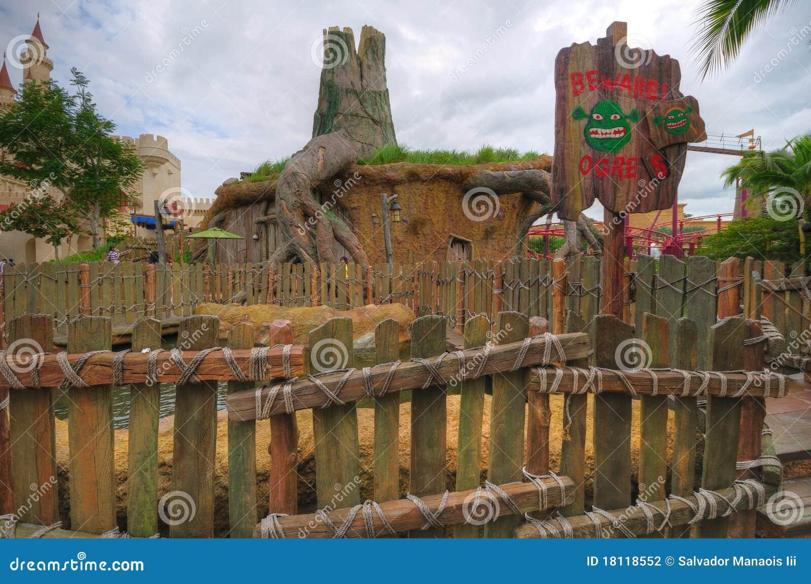 Shrek S House Universal Studios Singapore Editorial