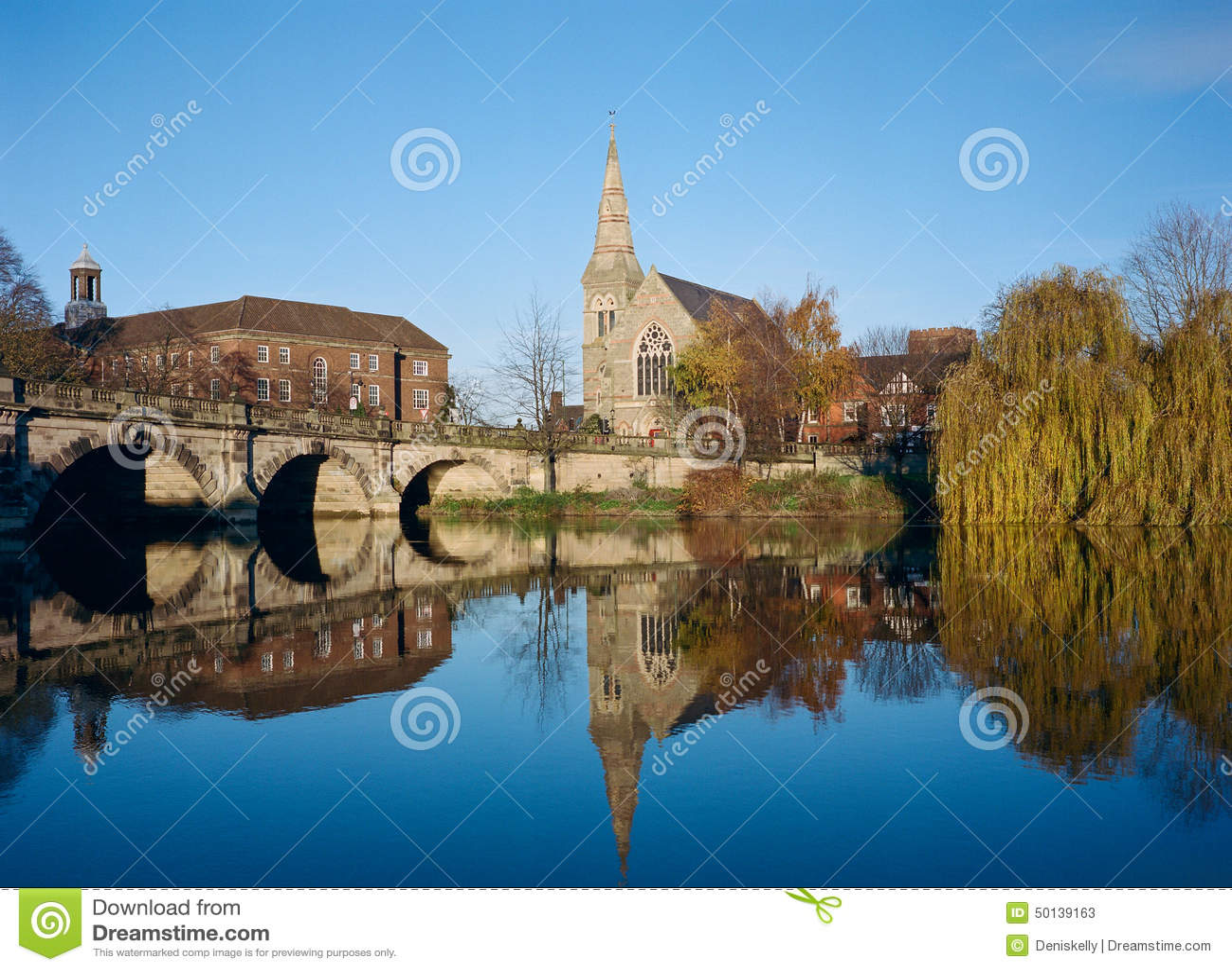Shrewsbury historisk stad, England