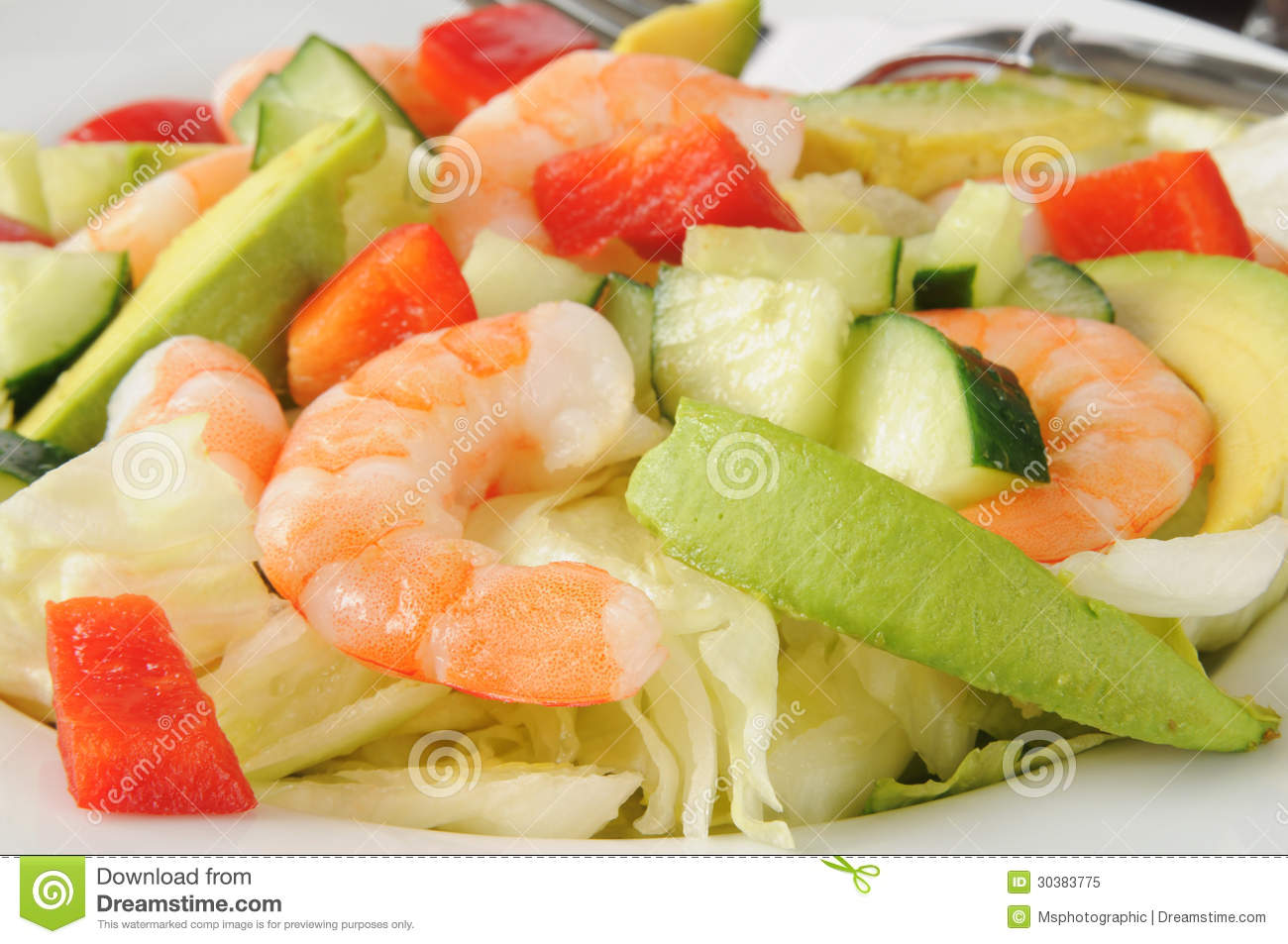 Shrimp And Avocado Salad Royalty Free Stock Photo - Image: 30383775