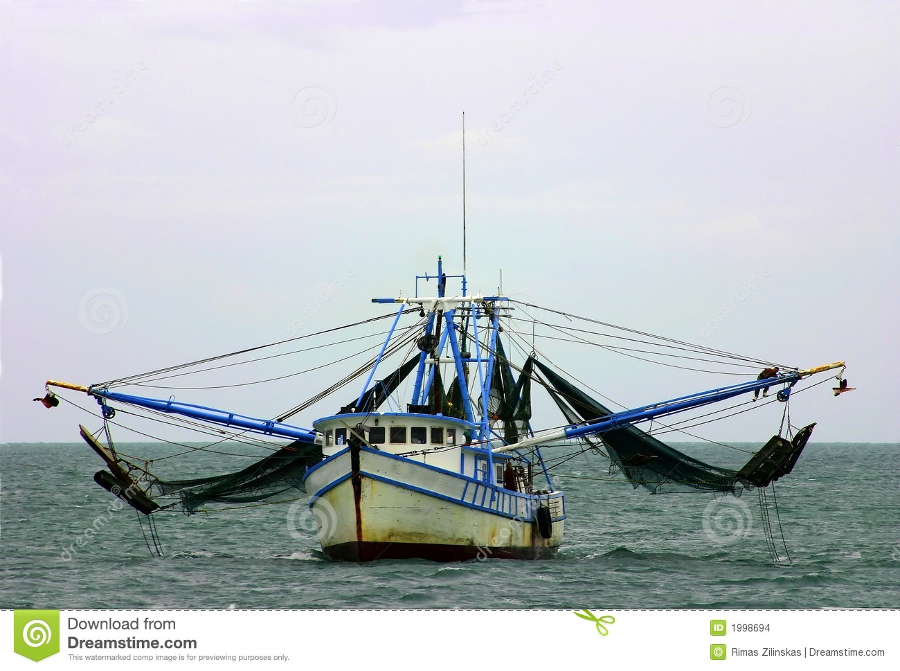 Shrimp Boat With Nets Stock Images - Image: 1998694