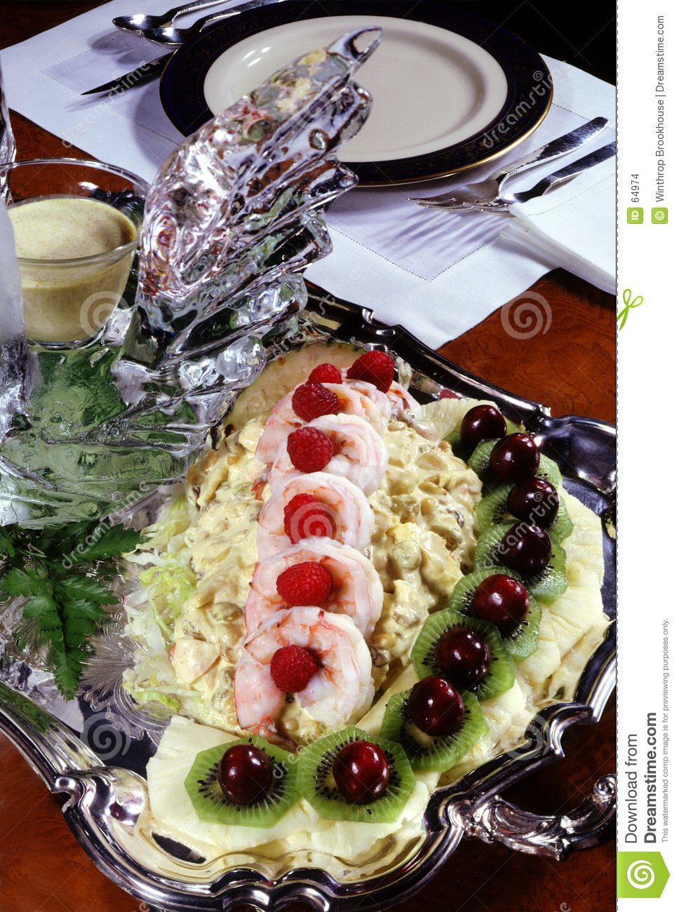 Shrimp with cabbage