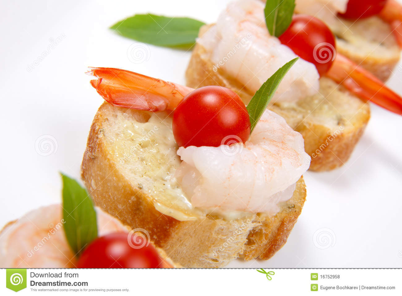 Shrimp canape stock photo image of organic closeup for Mini prawn cocktail canape