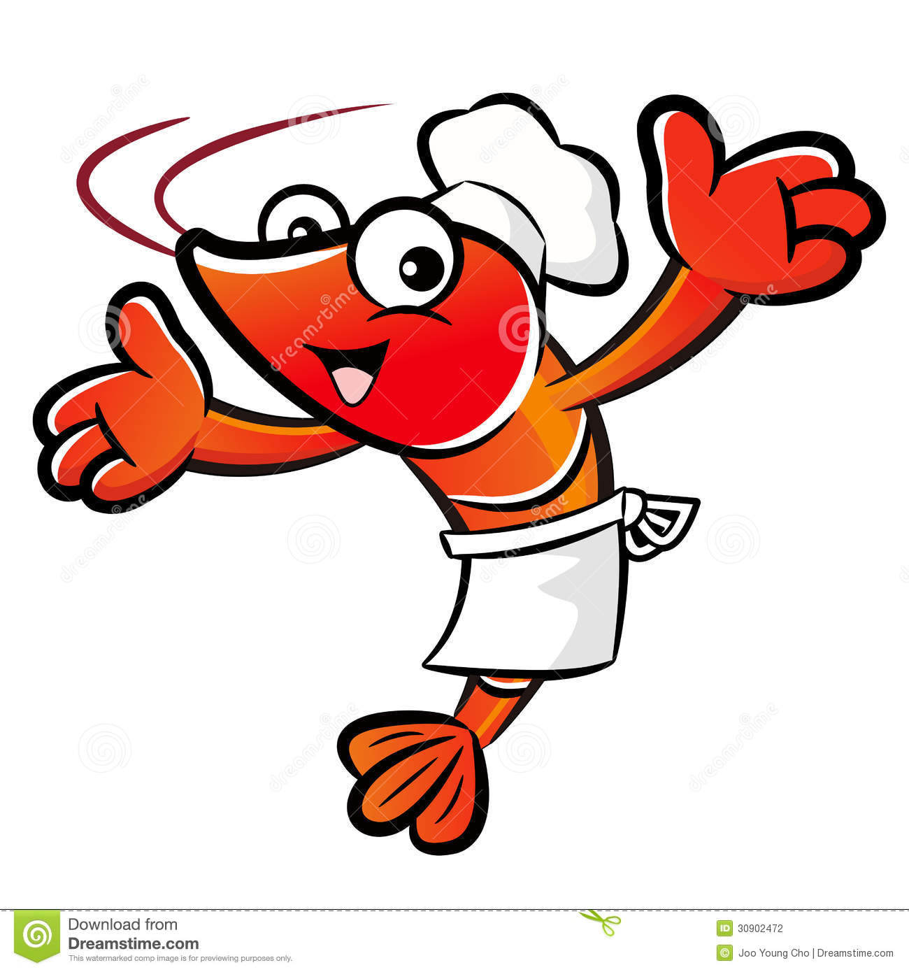 the shrimp chef mascot has been welcomed with both hands Cooked Shrimp Clip Art Shrimp Clip Art Black and White