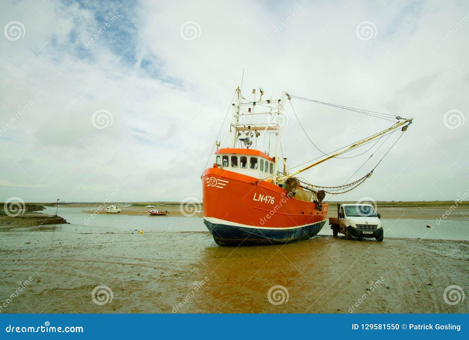 Shrimp fishing trawler.