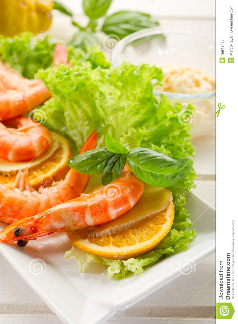 More similar stock images of ` Shrimp with green salad `