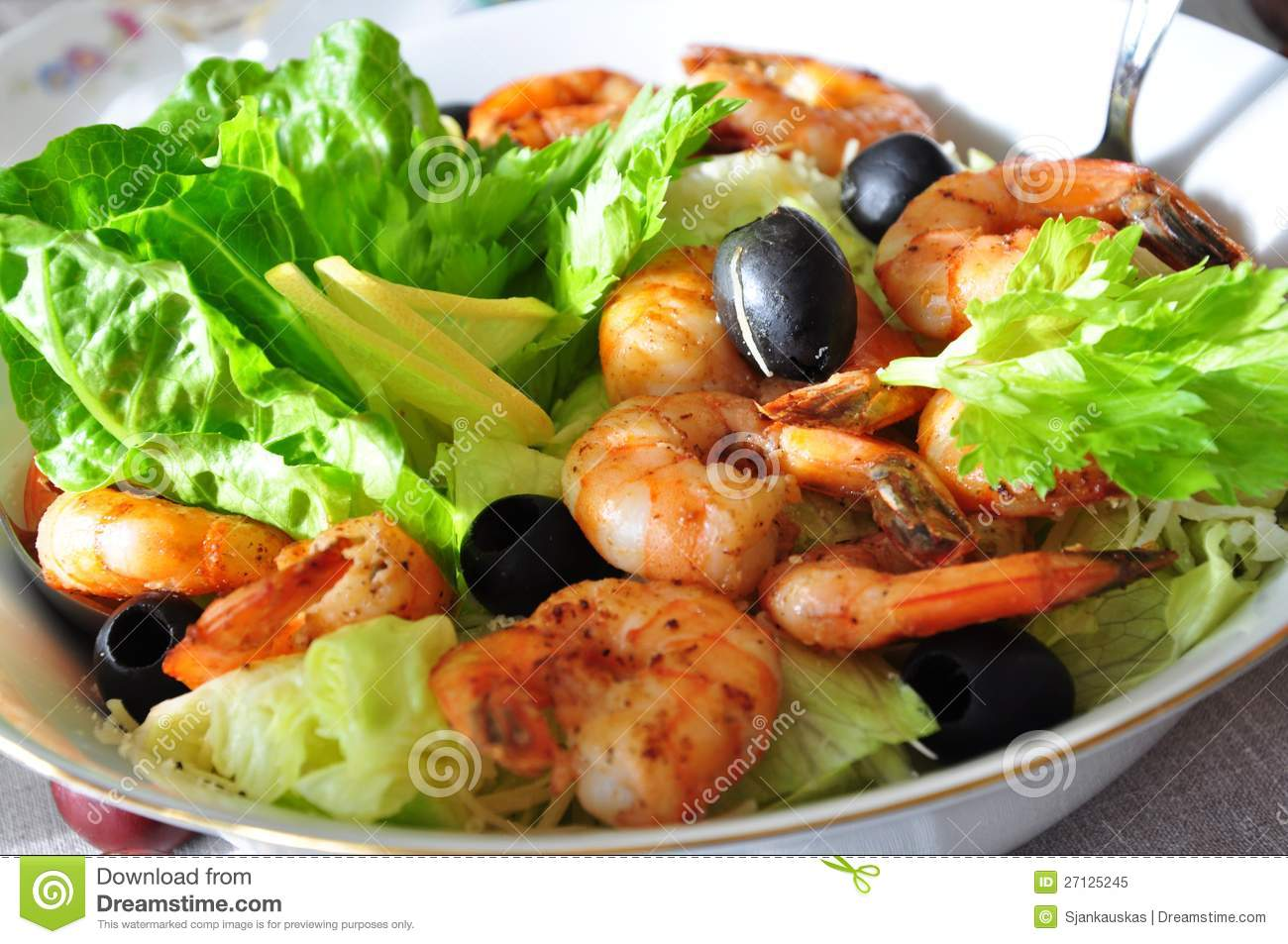 Shrimp Salad Royalty Free Stock Photo - Image: 27125245