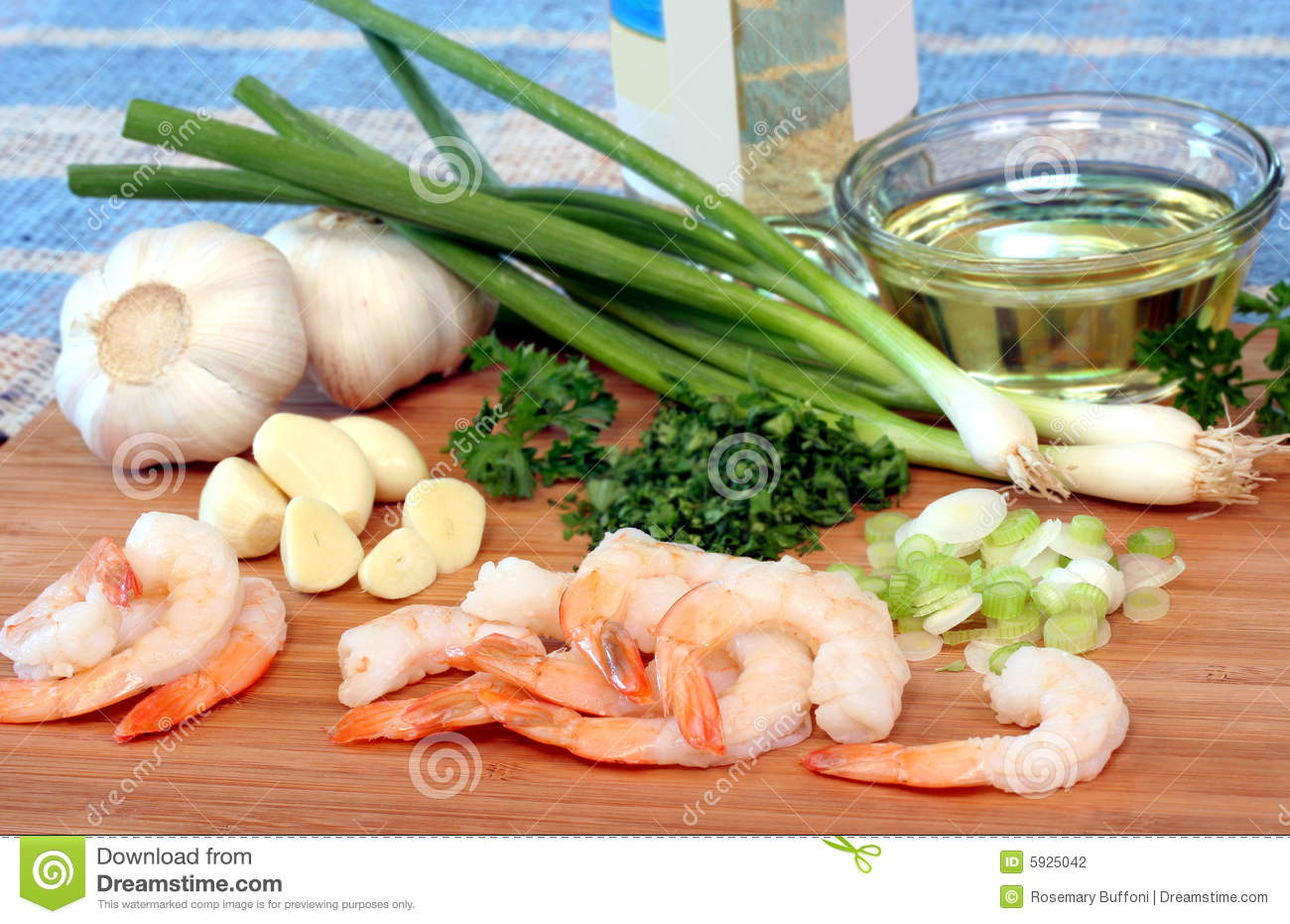 Shrimp Scampi Preparation