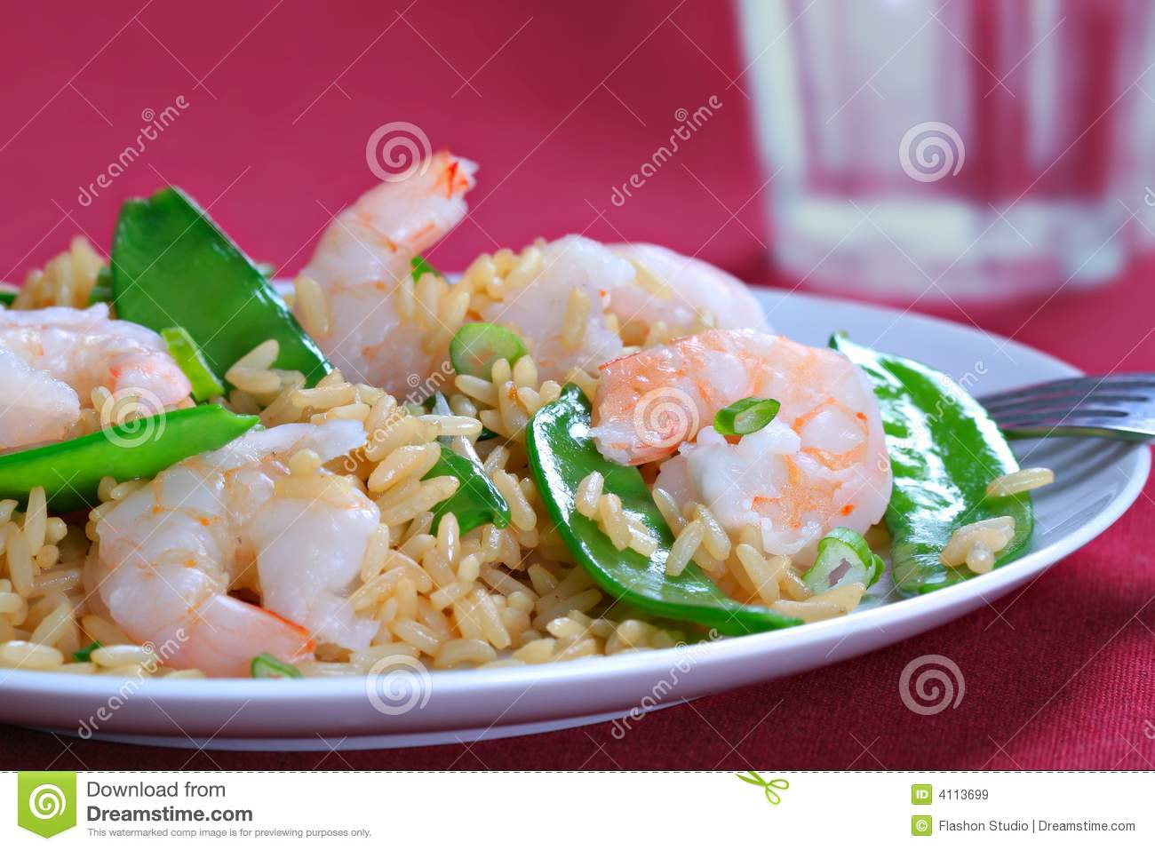 Shrimp Stir Fry Rice With Pea Pod Royalty Free Stock Images - Image ...