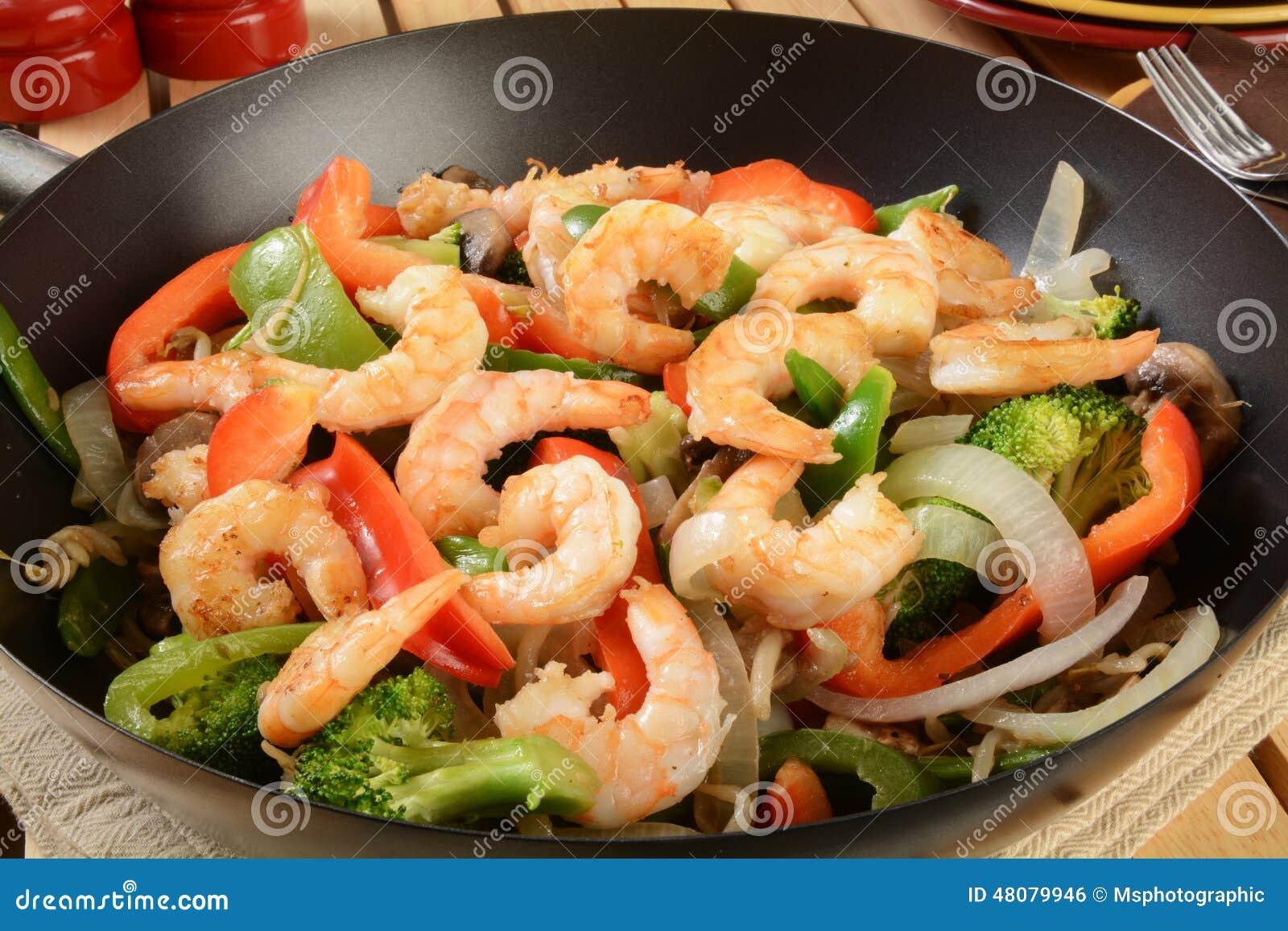 Креветки с овощами по-китайски рецепт пошагово