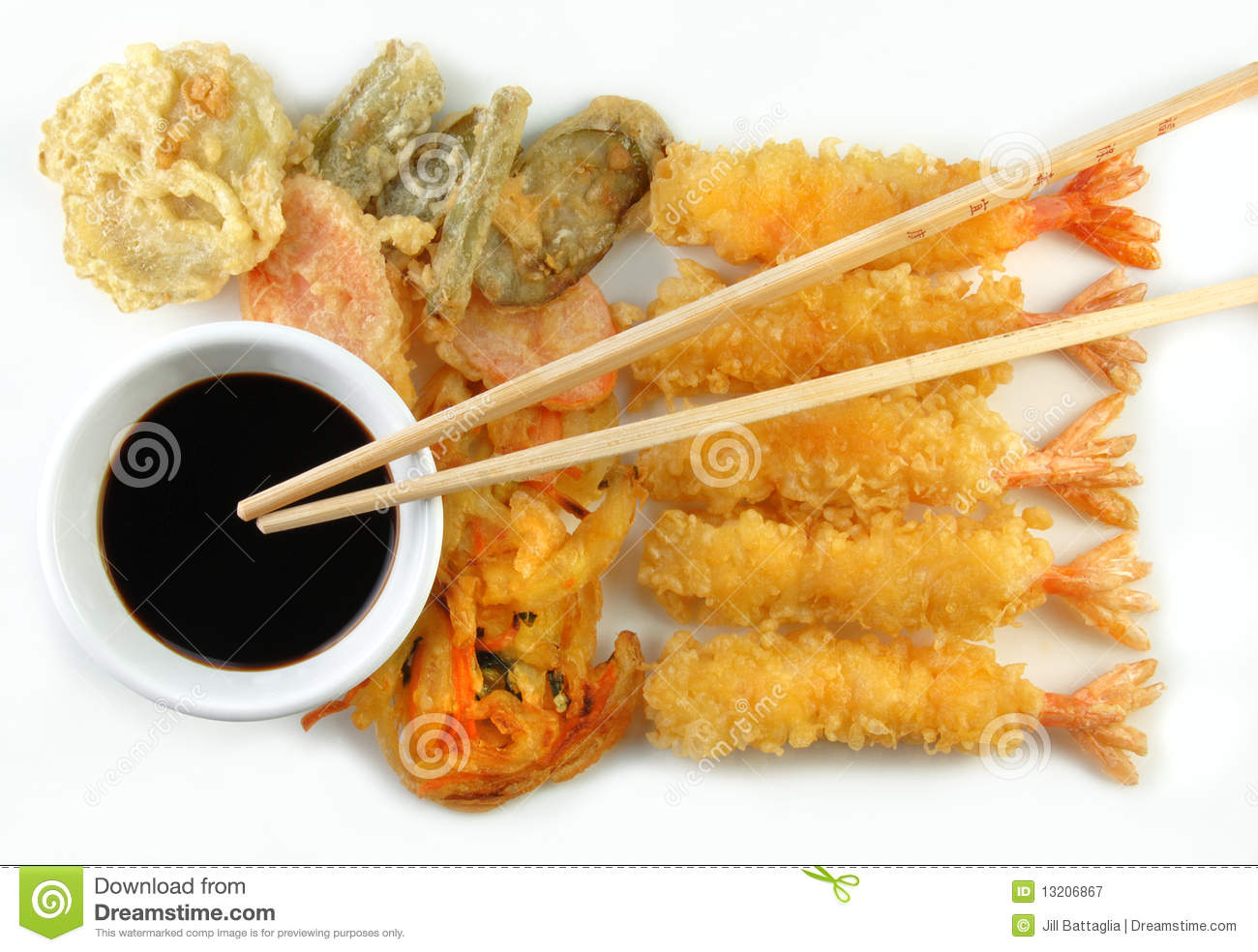 Shrimp Vegetable Tempura And Chopsticks Royalty Free Stock Photography ...