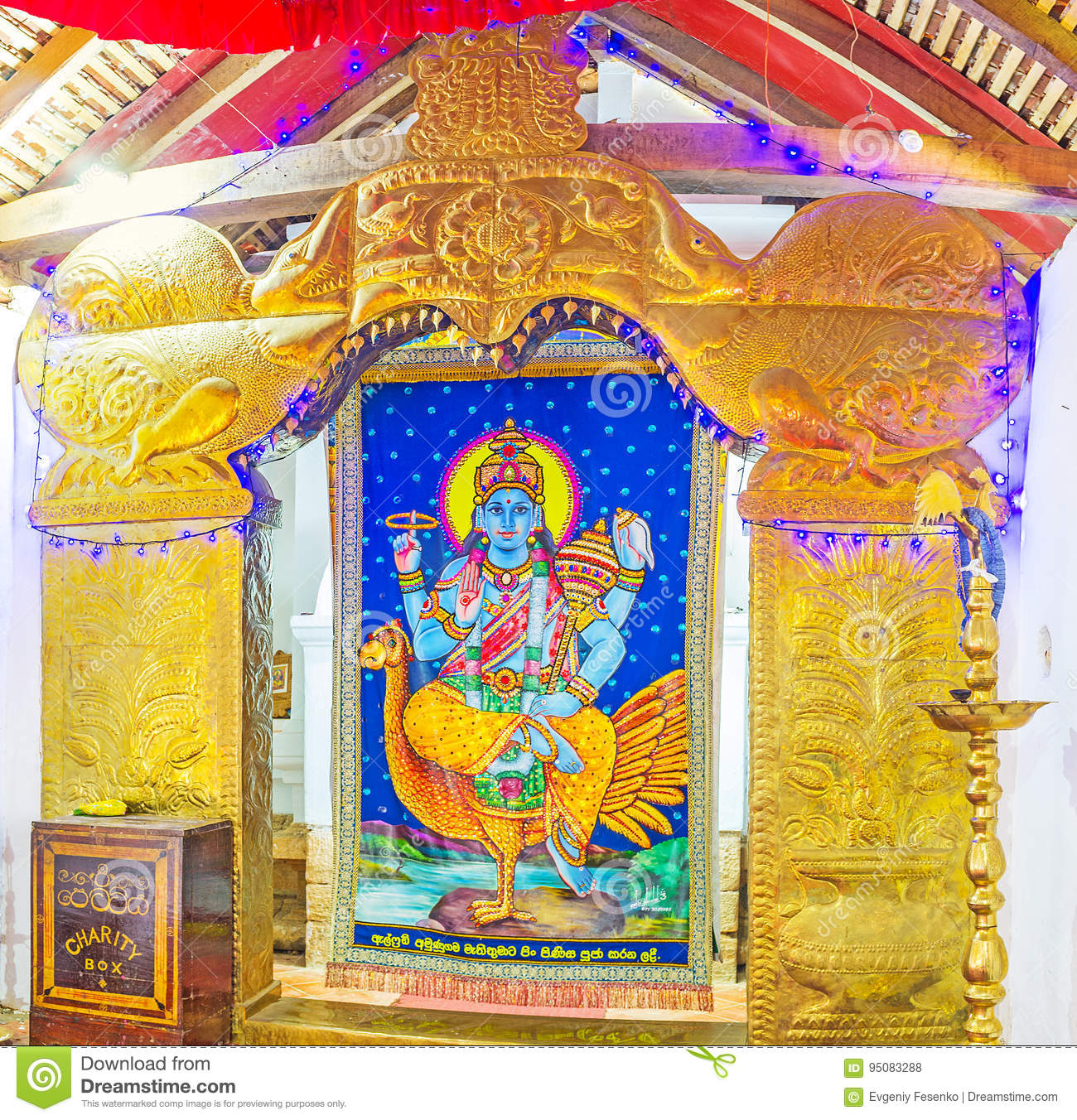 The Shrine Of Vishnu Editorial Stock Photo - Image: 95083288