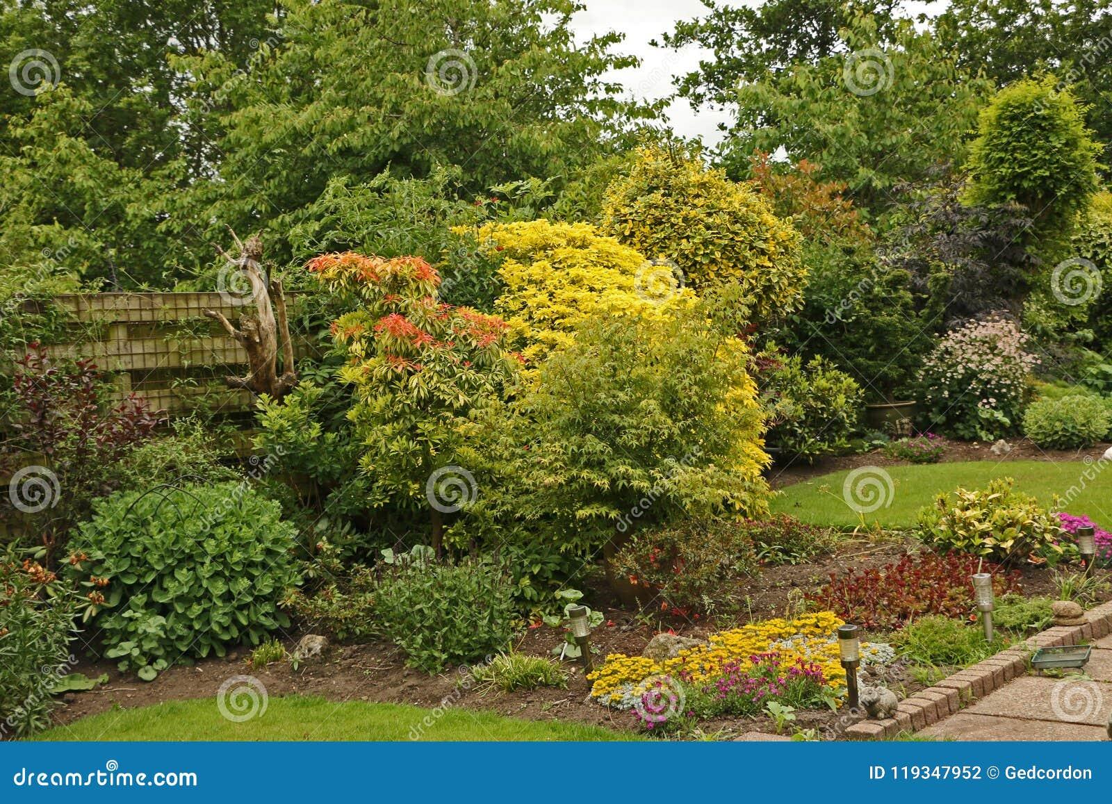 Colourful English Garden Stock Photo Image Of Pathway 119347952