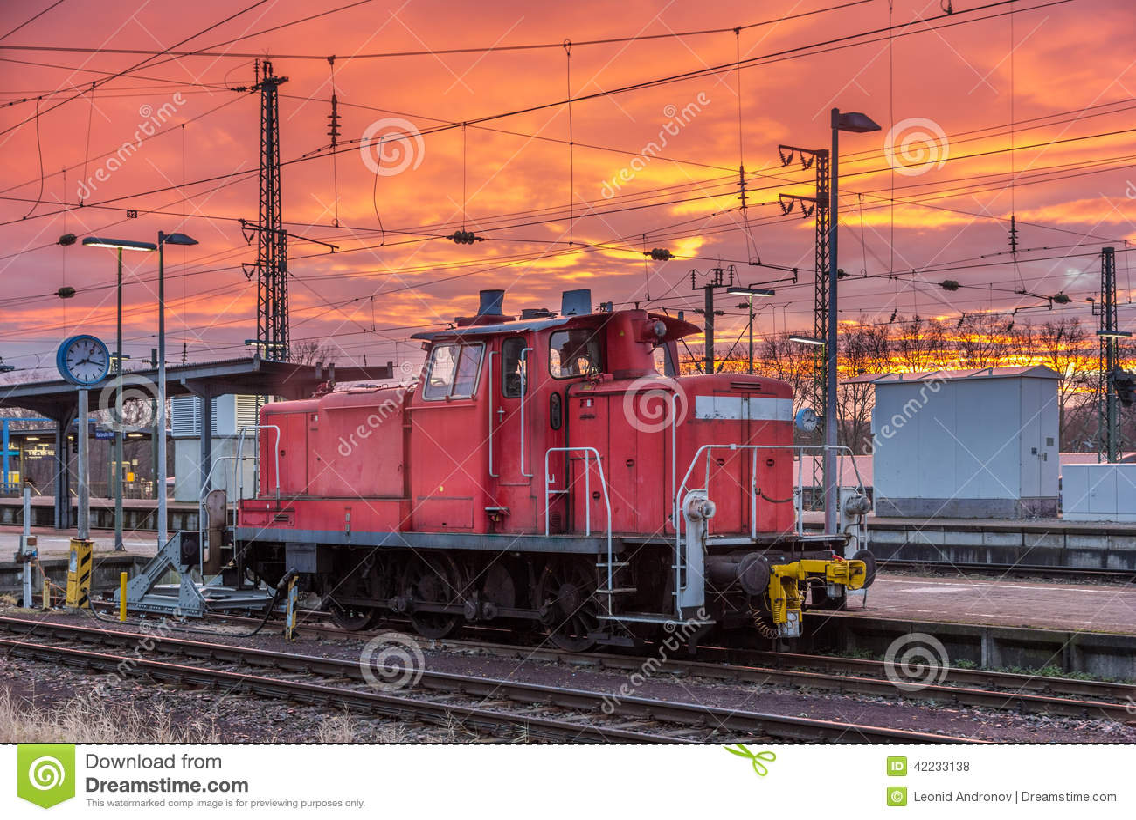 A shunter at Karlsruhe station - Germany