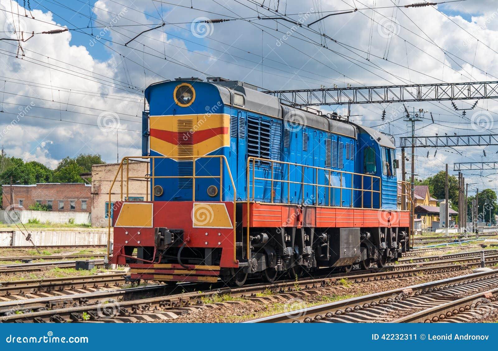 Shunter on a ukrainian station