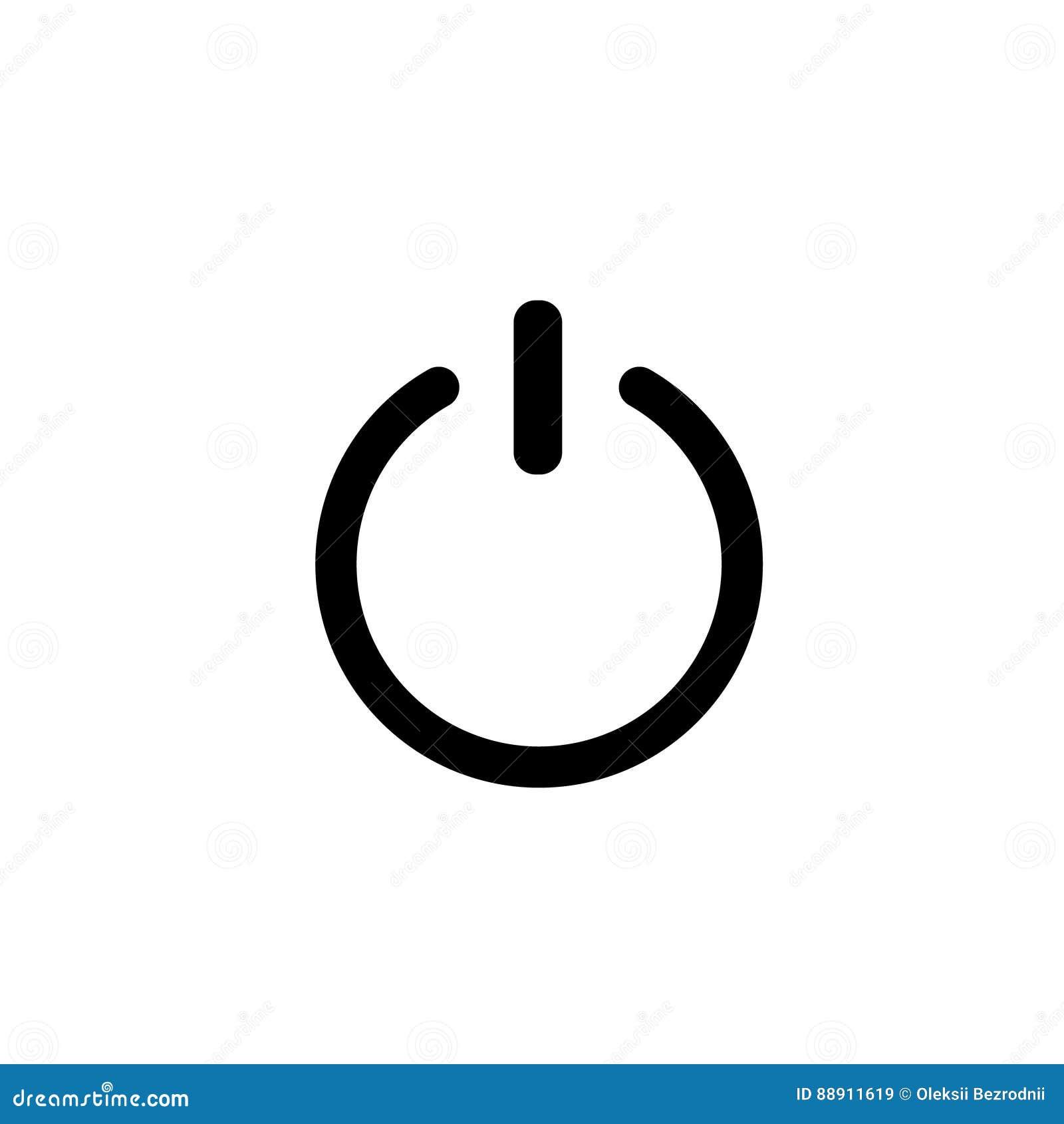 Shut Down Symbol. Switch Off Simple Symbol Stock Vector ...