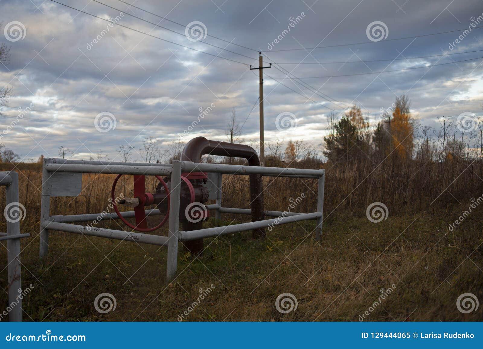 Shut-off valve for disconnected oil pump. Russia, Bashneft, Rosneft.