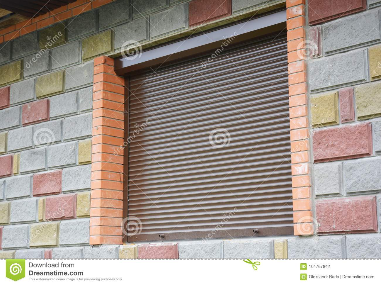 Shutter Security Barrier Window With Rolling Shutter For