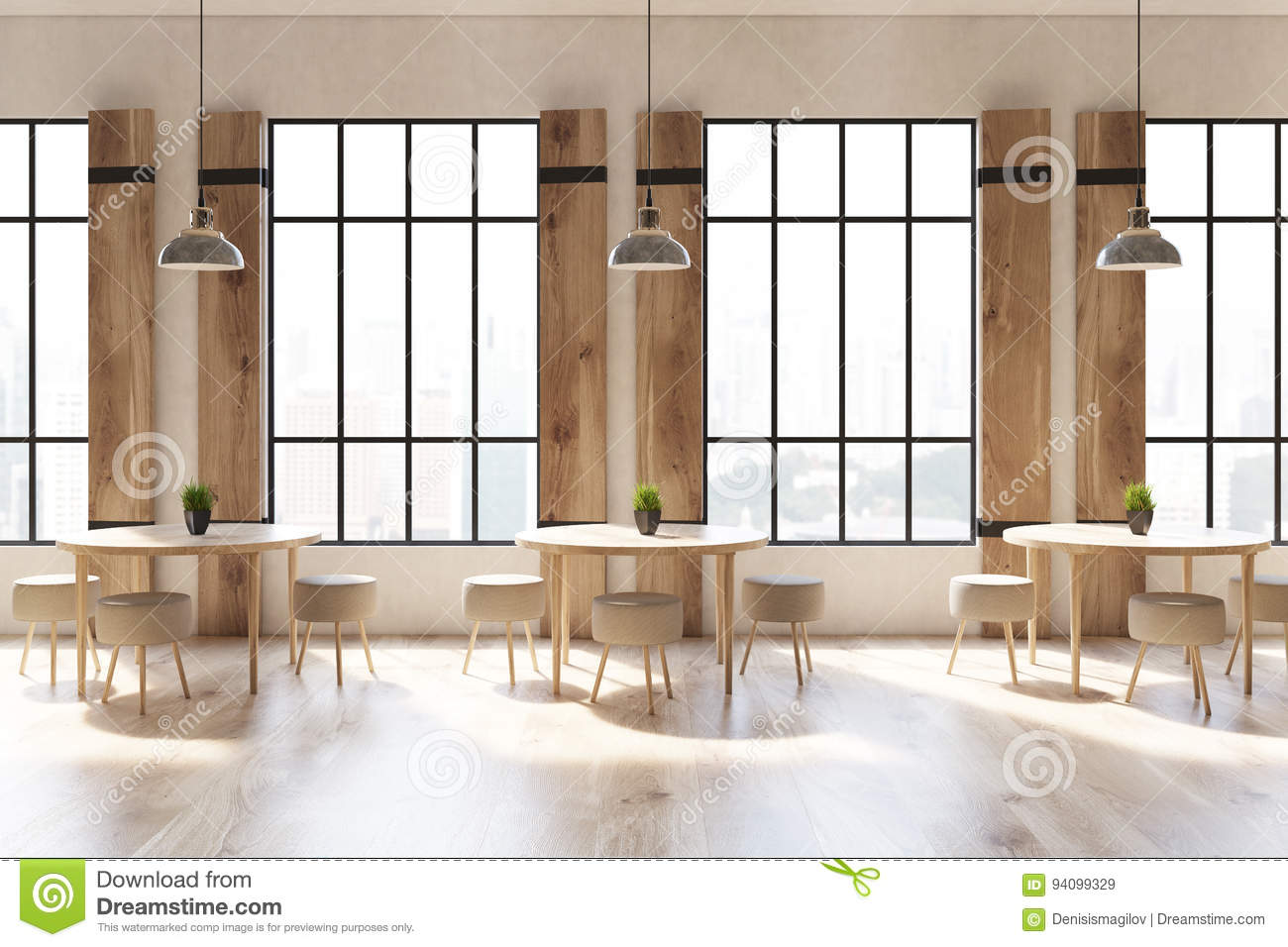 shutters cafe interior close up stock illustration image 94099329 - Concrete Cafe Interior