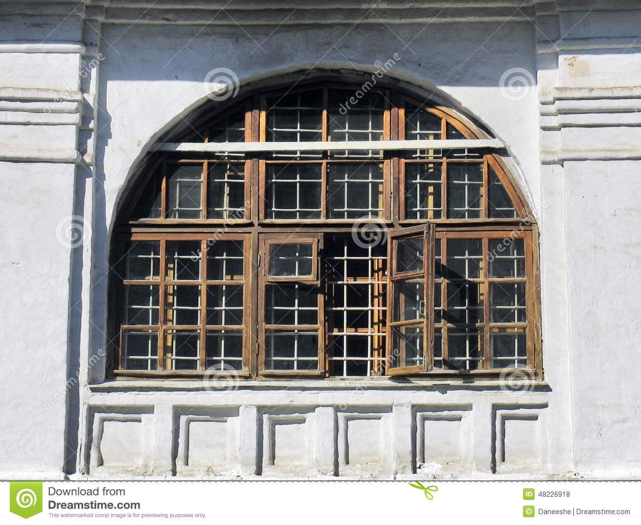 Shutters of windows in arch type with wooden frame stock photo image 48226918 - Types shutters consider windows ...