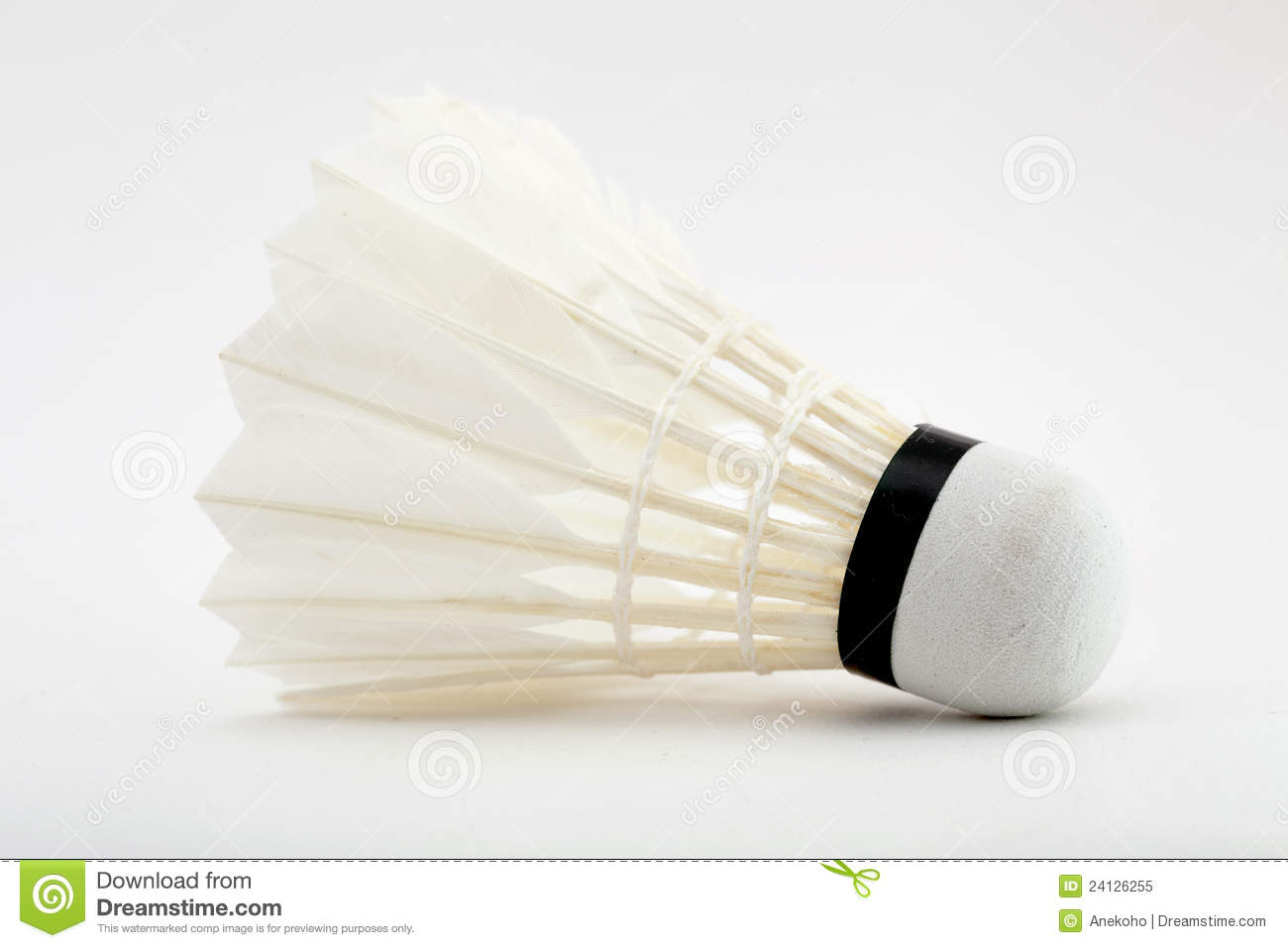 Shuttlecock do Badminton no branco