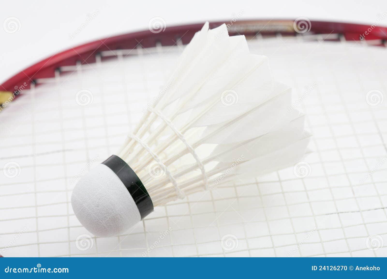 Shuttlecock do Badminton no branco