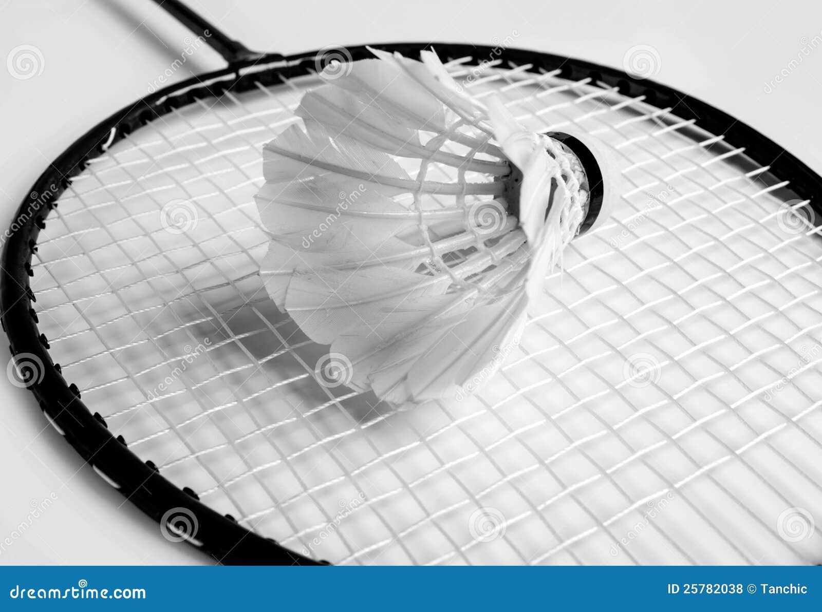 Shuttlecock ein Schläger von Badminton