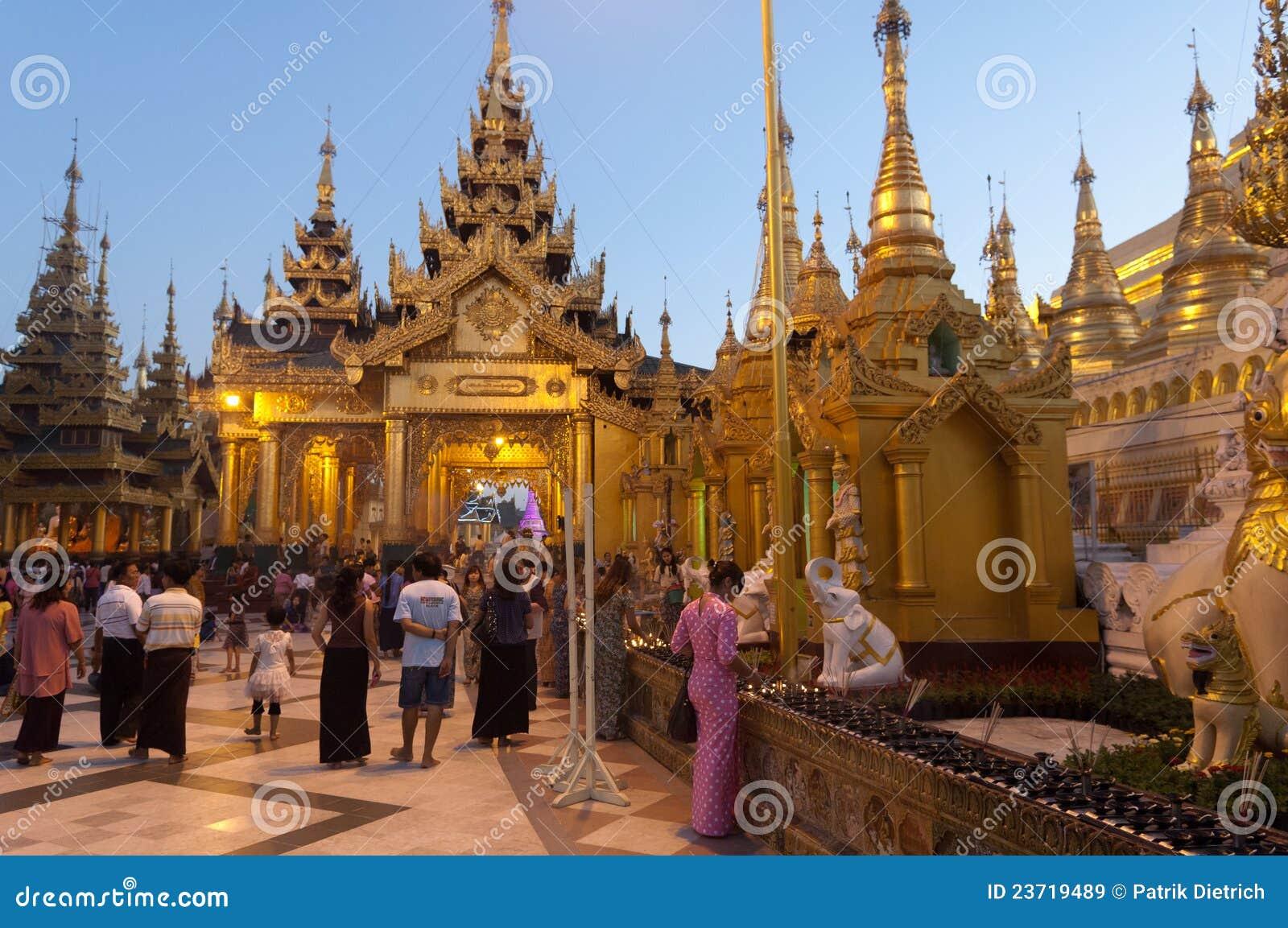 Shwedagon yangon myanmar празднества 25-ое февраля