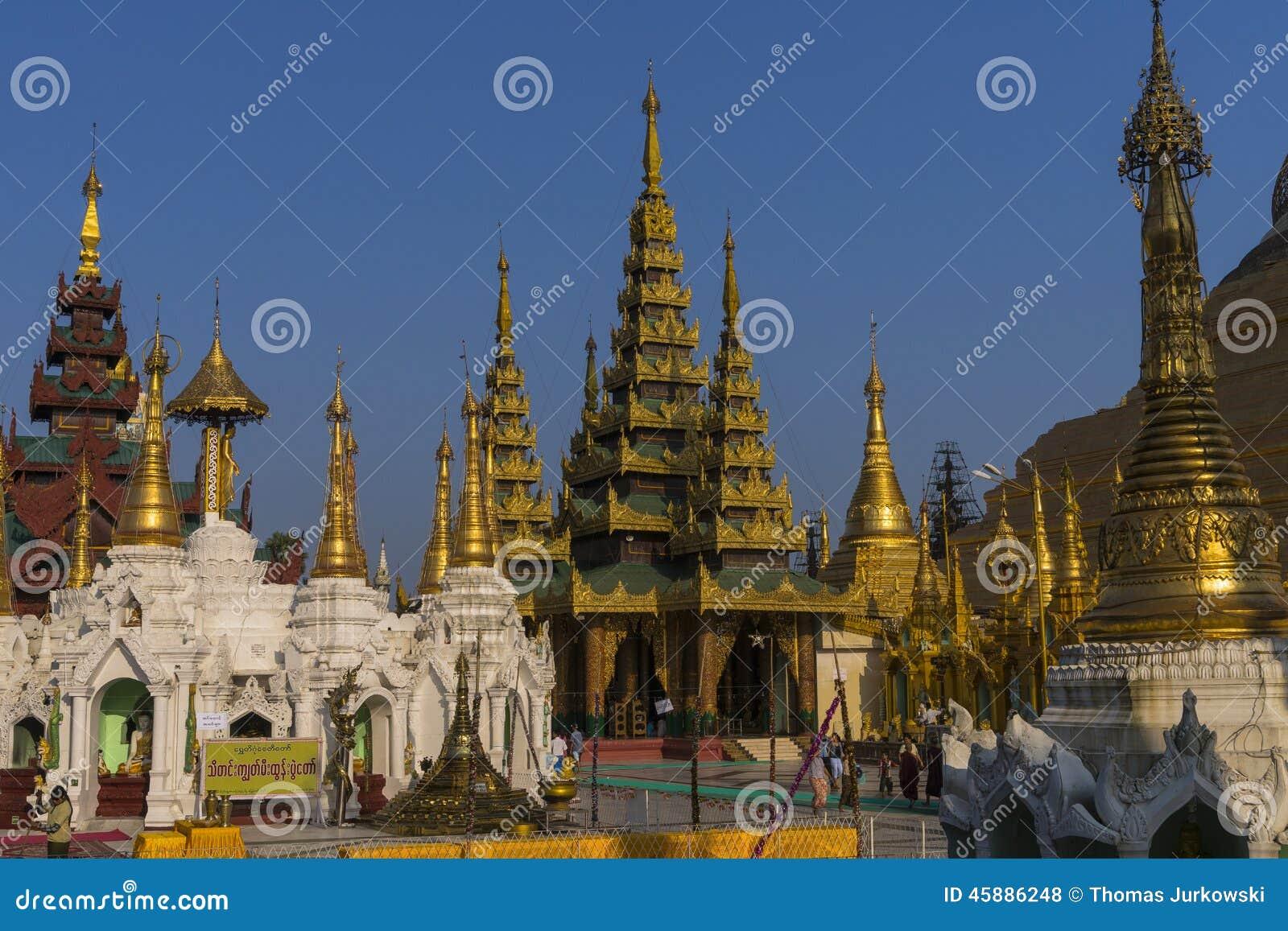 Shwedagon pagoda in yangon editorial stock photo image for Http wikipedia org wiki