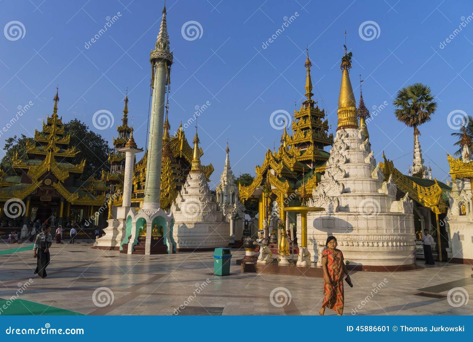 Shwedagon pagoda in yangon editorial photo image 45886601 for Http wikipedia org wiki