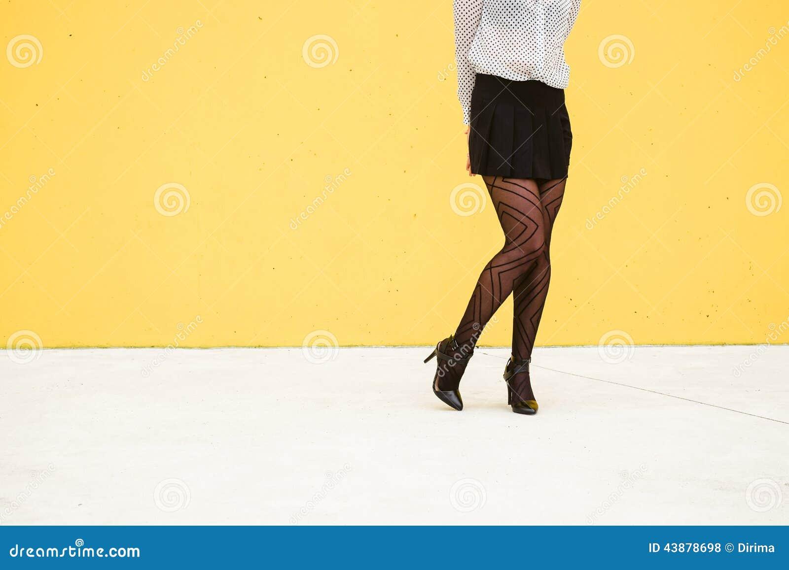 Shy Trendy Fashion Businesswoman Legs Stock Photo - Image 43878698-4662