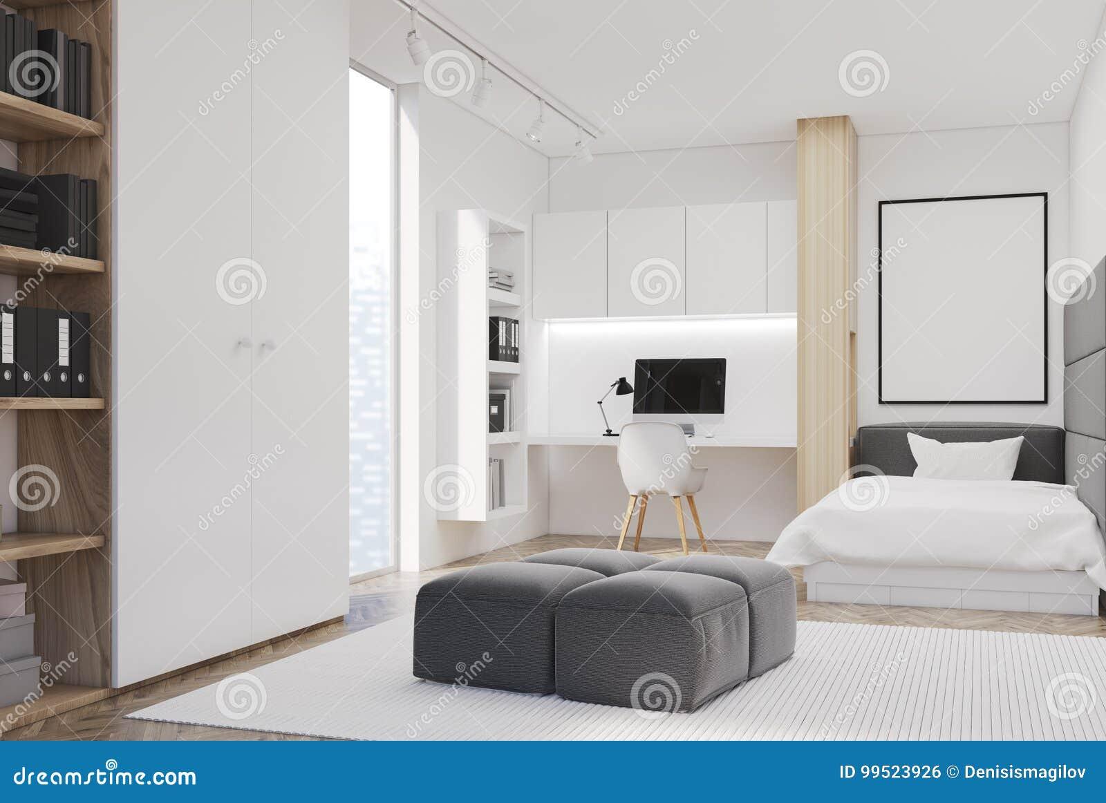 Siège De Chambre à Coucher Et Social Blanc Simple Côté