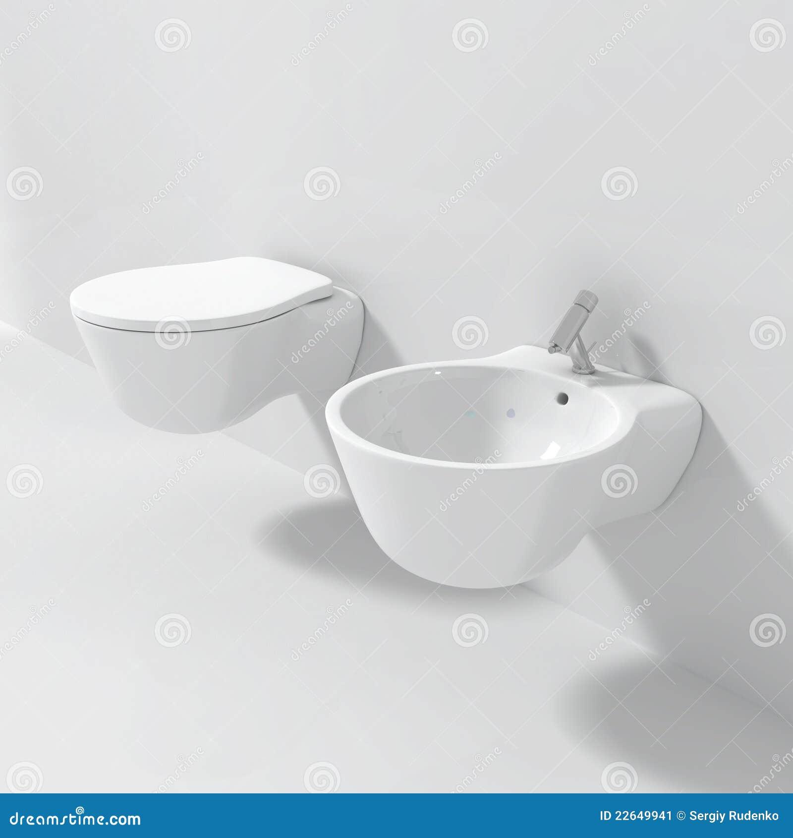 si ge de toilette moderne de bidet image stock image 22649941. Black Bedroom Furniture Sets. Home Design Ideas