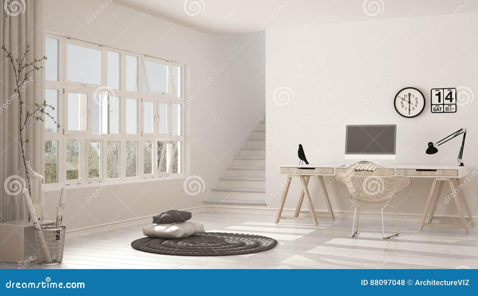 download sige social scandinave lieu de travail de grenier intrieur minimaliste de photo stock - Siege Scandinave