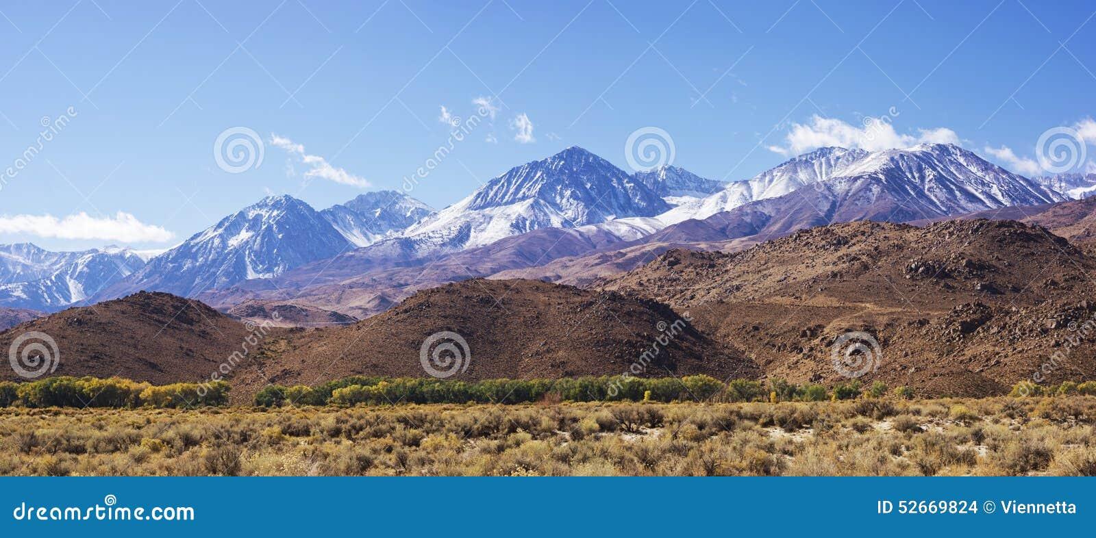 Siërra de bergen van Nevada in Californië