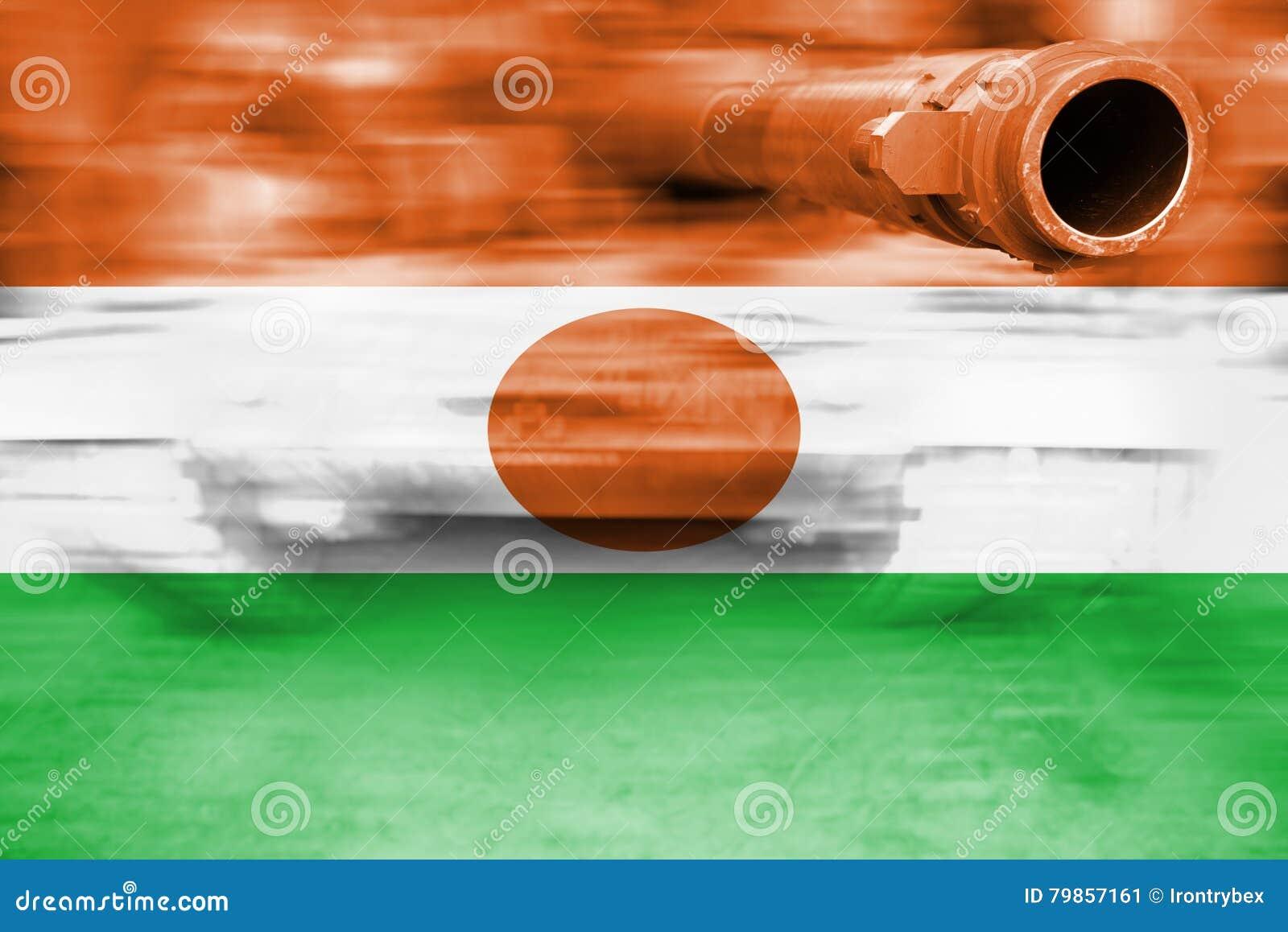 Siły wojska temat, ruch plamy zbiornik z Niger flaga