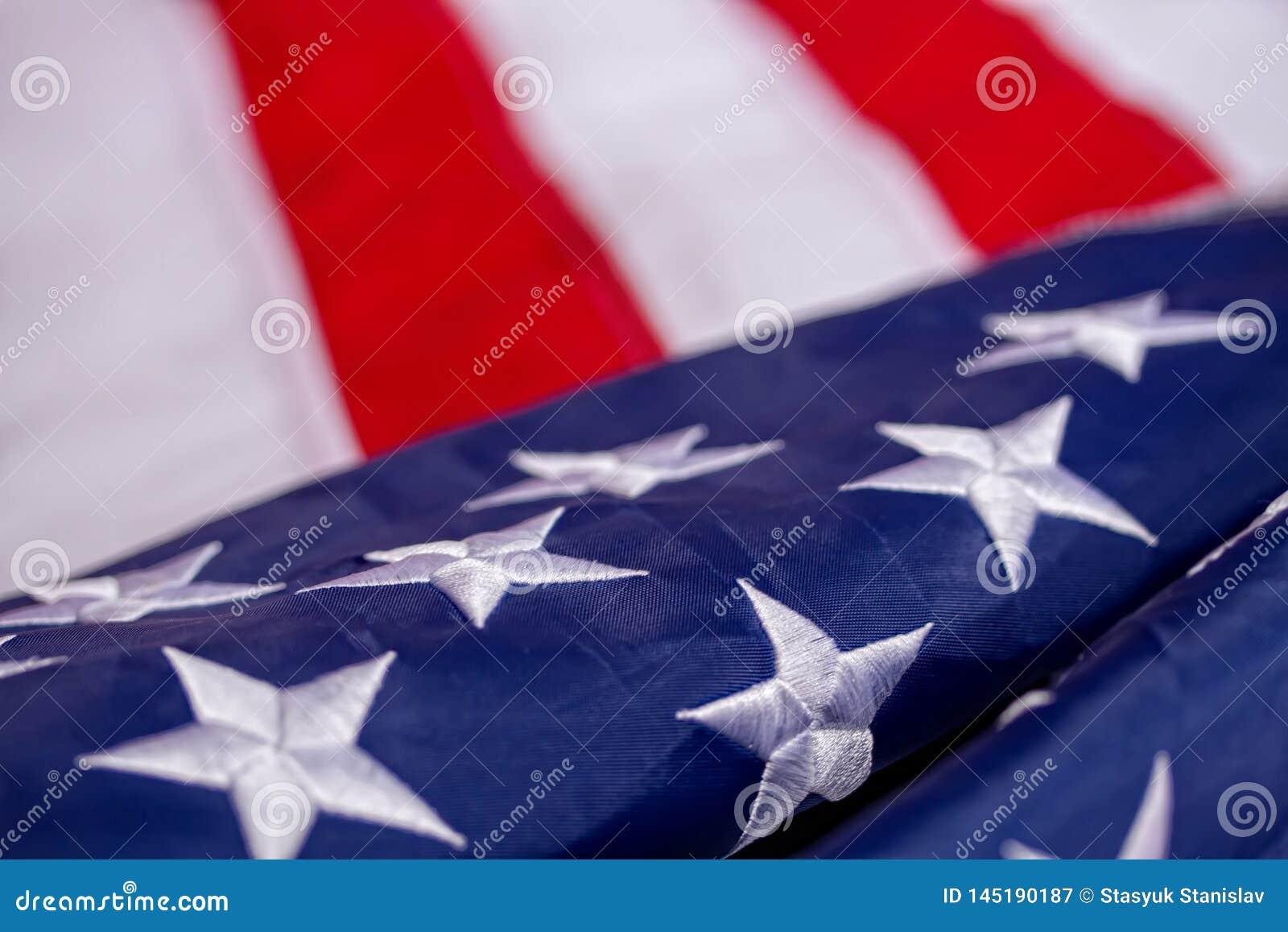 Κυματίζοντας αμερικανική σημαία