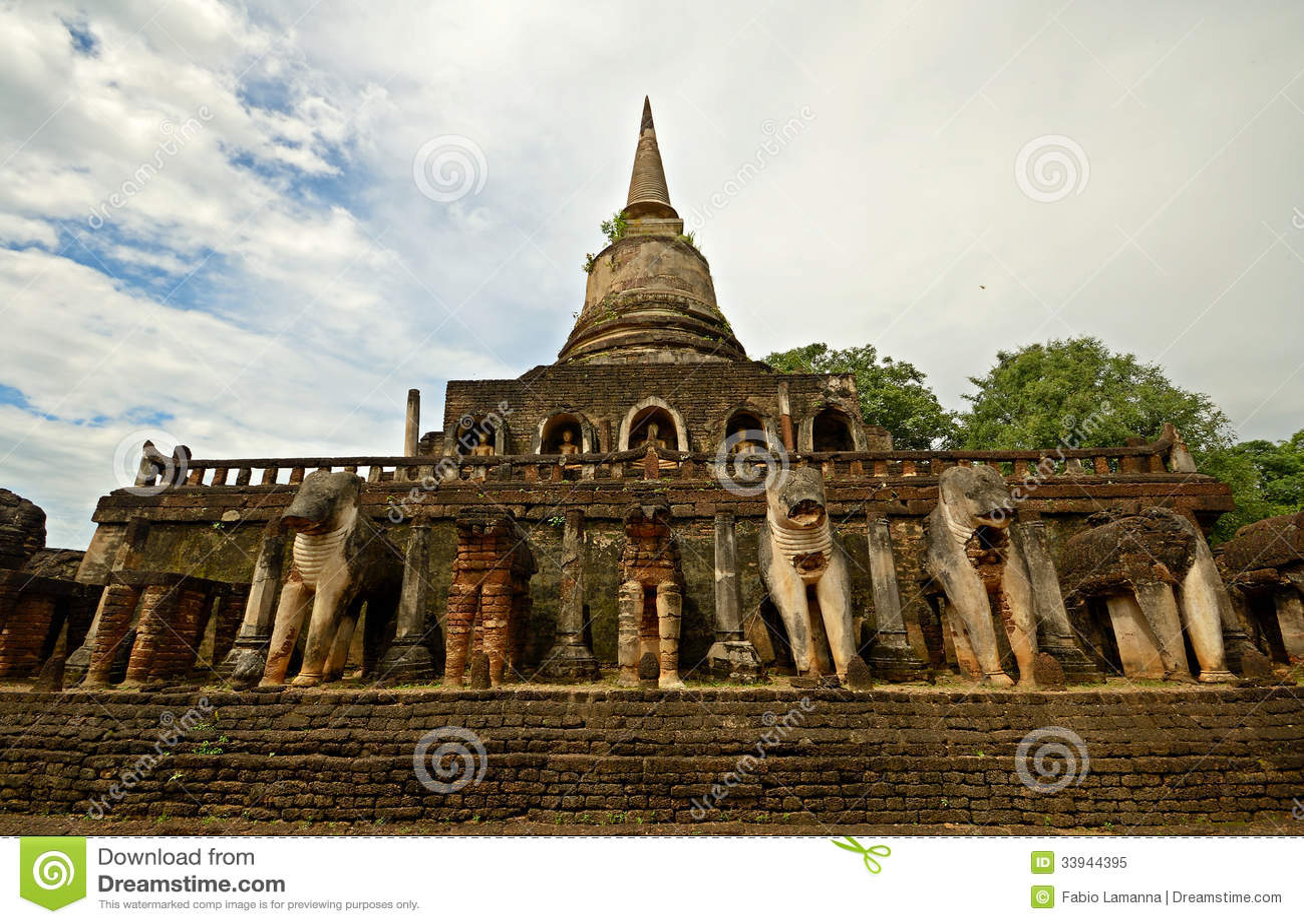 Si Satchanalai Chaliang Historical Park Royalty Free Stock ...