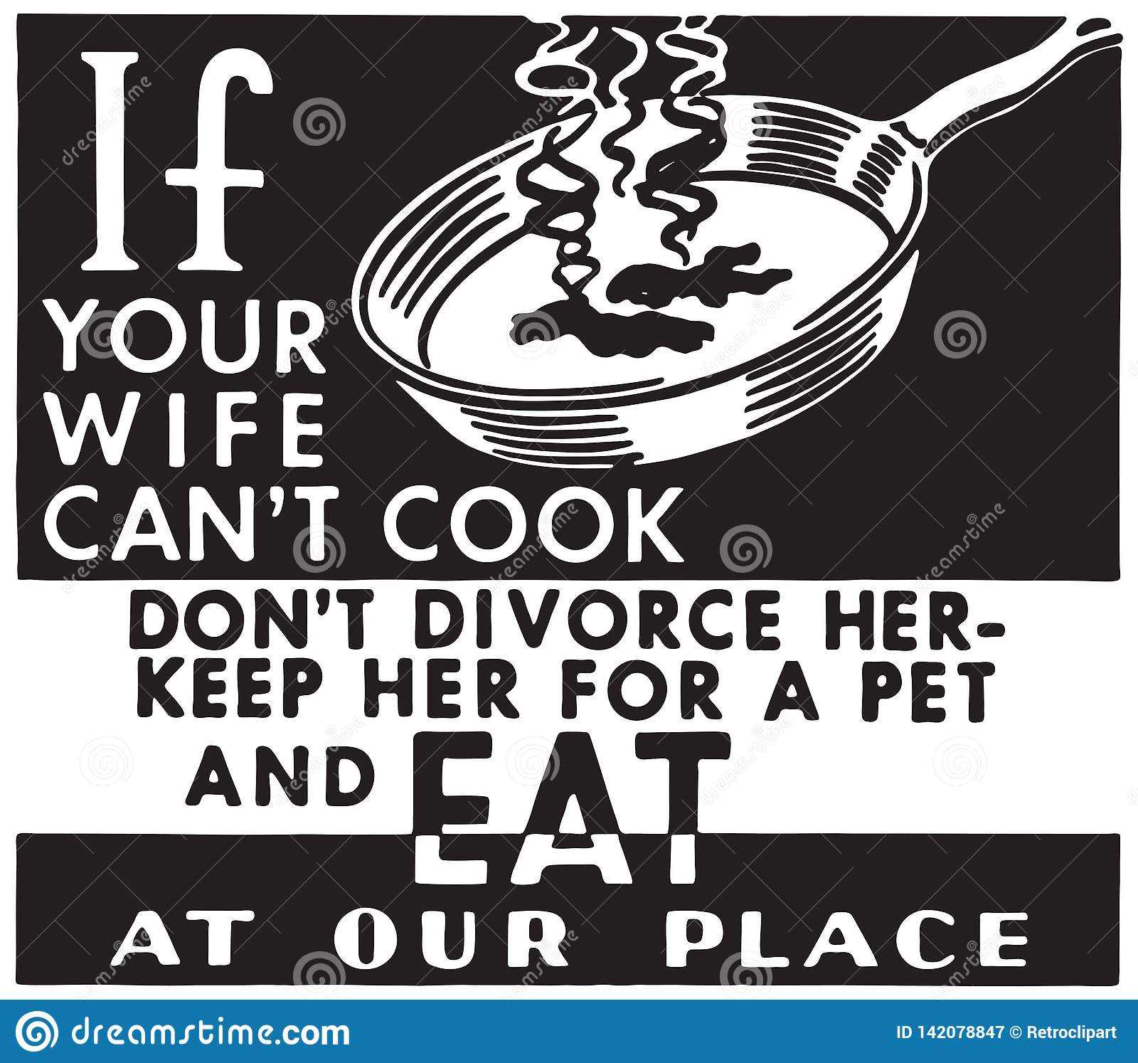 Si su esposa no puede cocinar